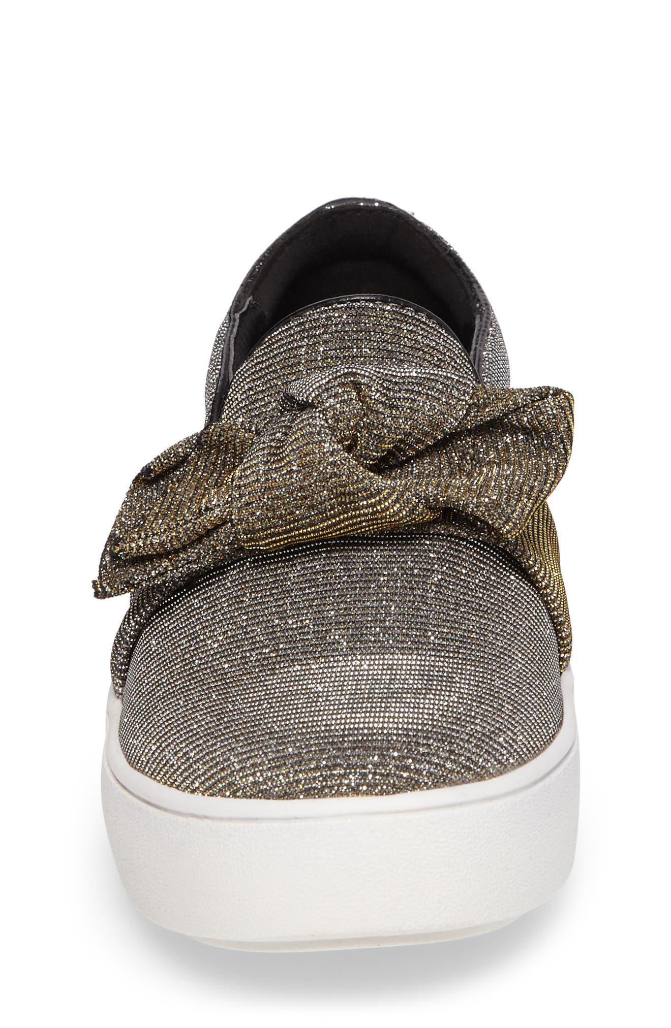 Alternate Image 4  - MICHAEL Michael Kors Maven Poppy Knotted Slip-On Sneaker (Walker, Toddler, Little Kid & Big Kid)