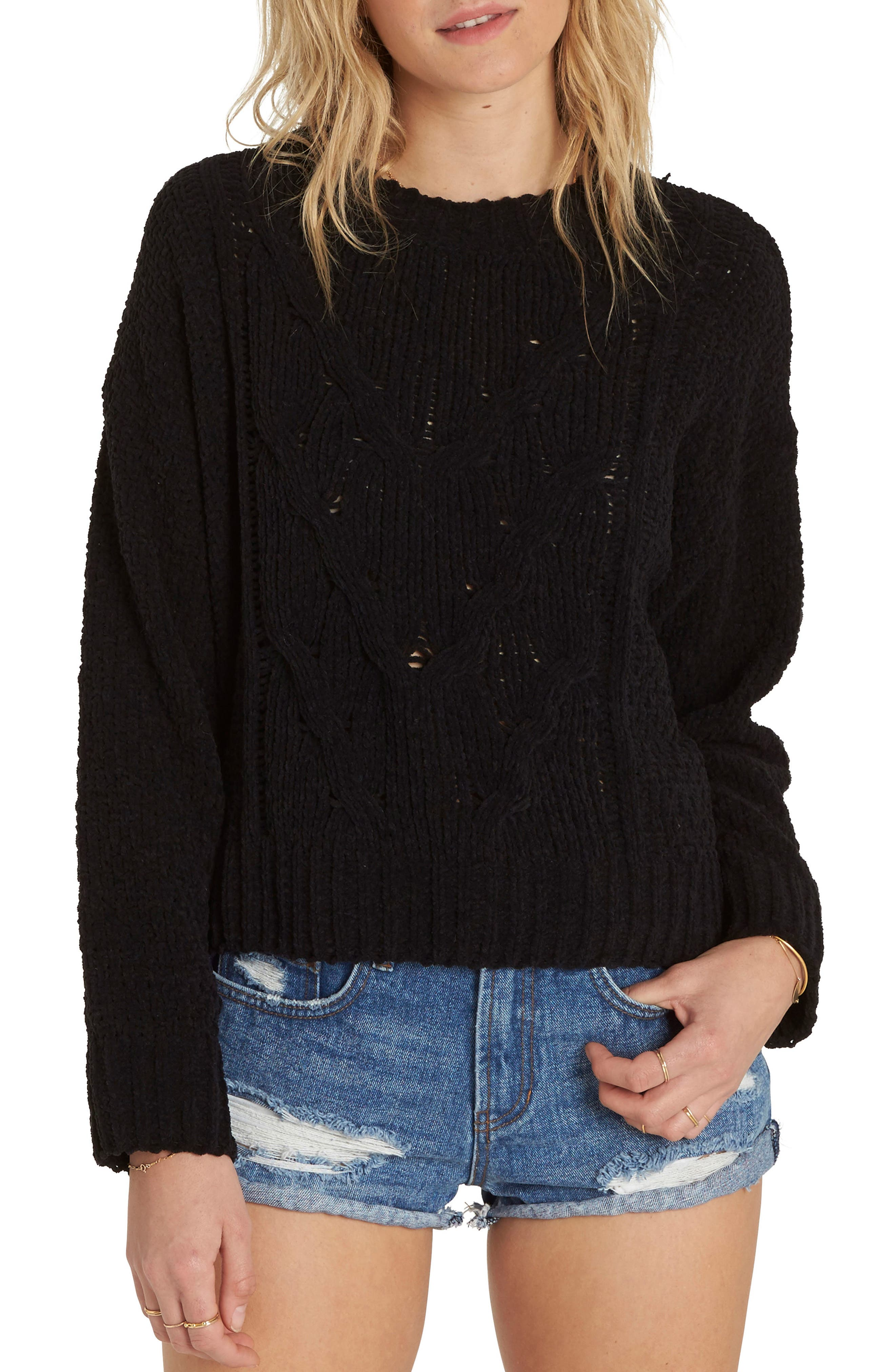 Main Image - Billabong All Mine Chenille Sweater