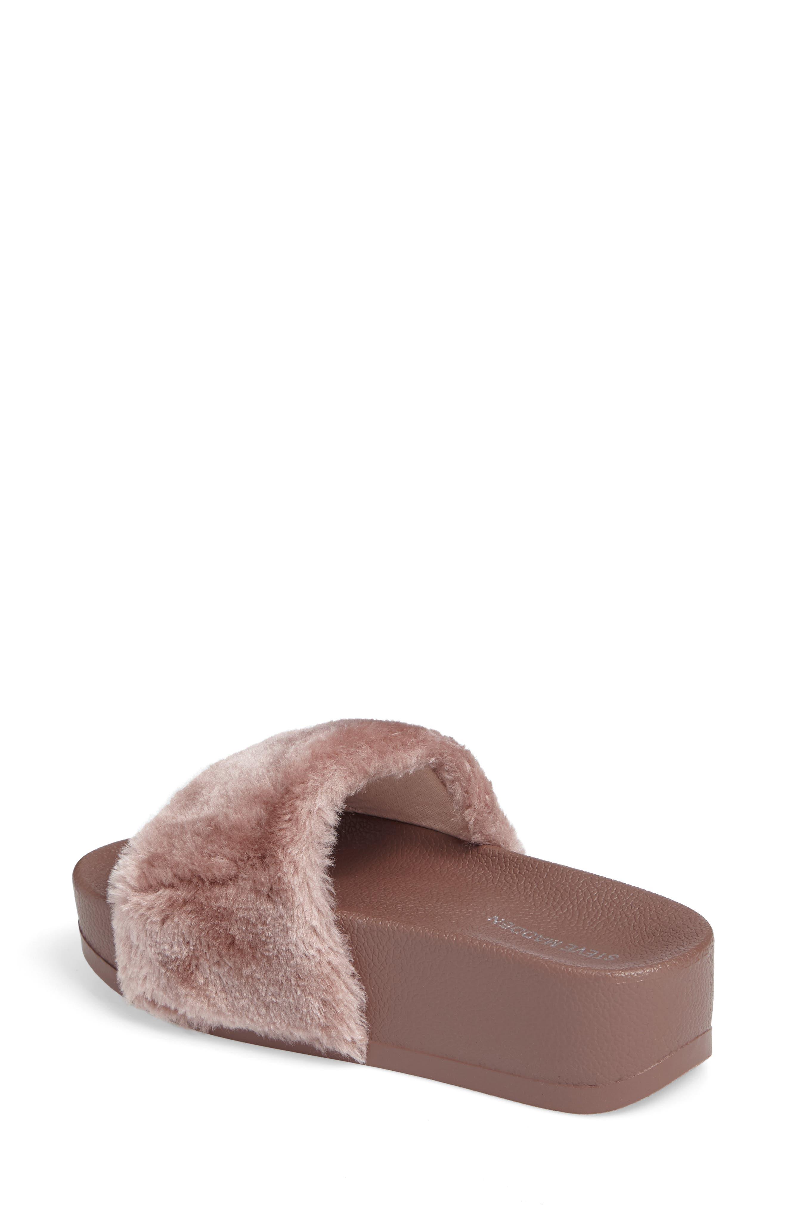 Alternate Image 2  - Steve Madden Softey Faux Fur Platform Slide (Women)