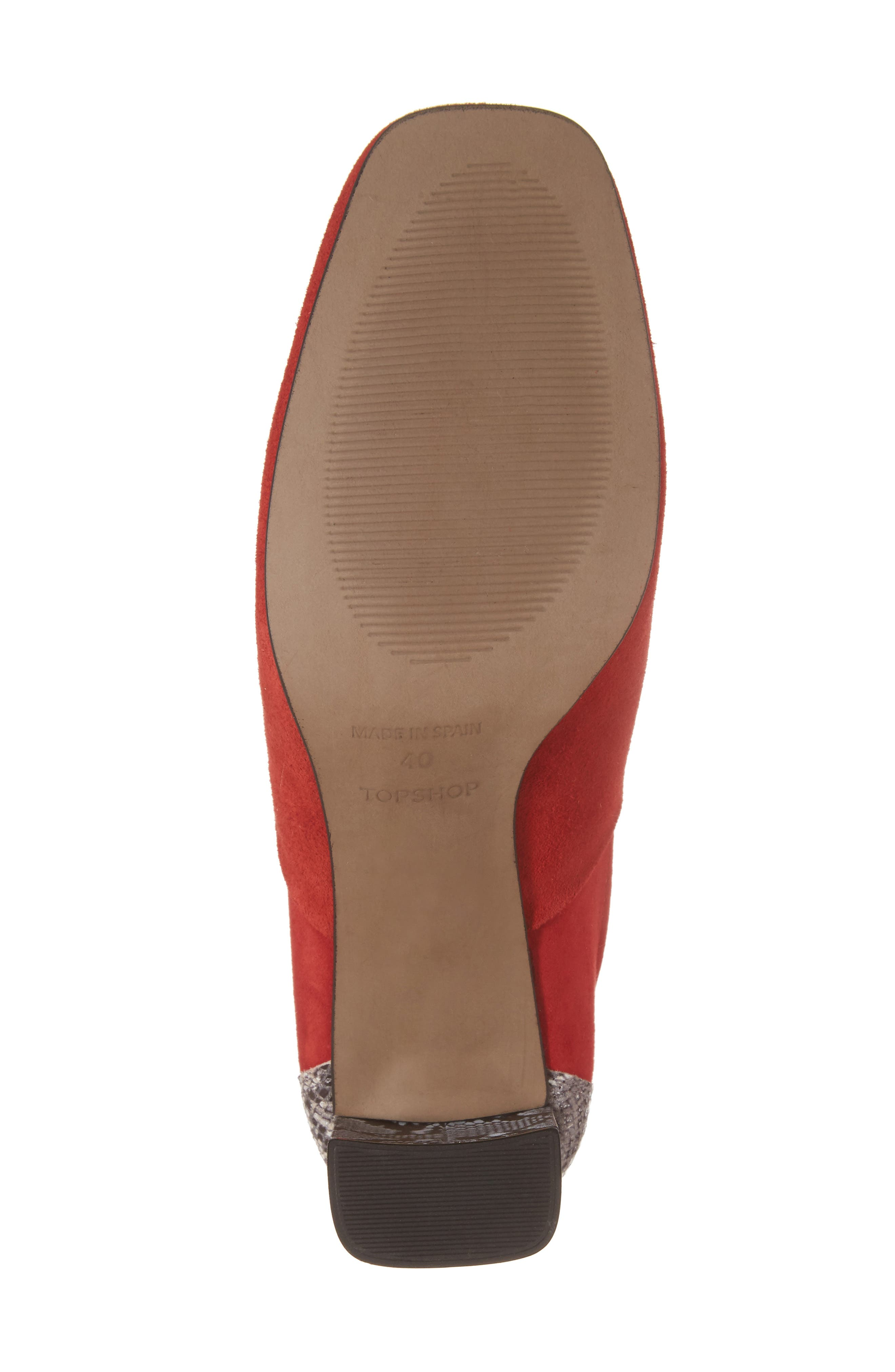 Hunk Snake-Textured Bootie,                             Alternate thumbnail 6, color,                             Red Multi