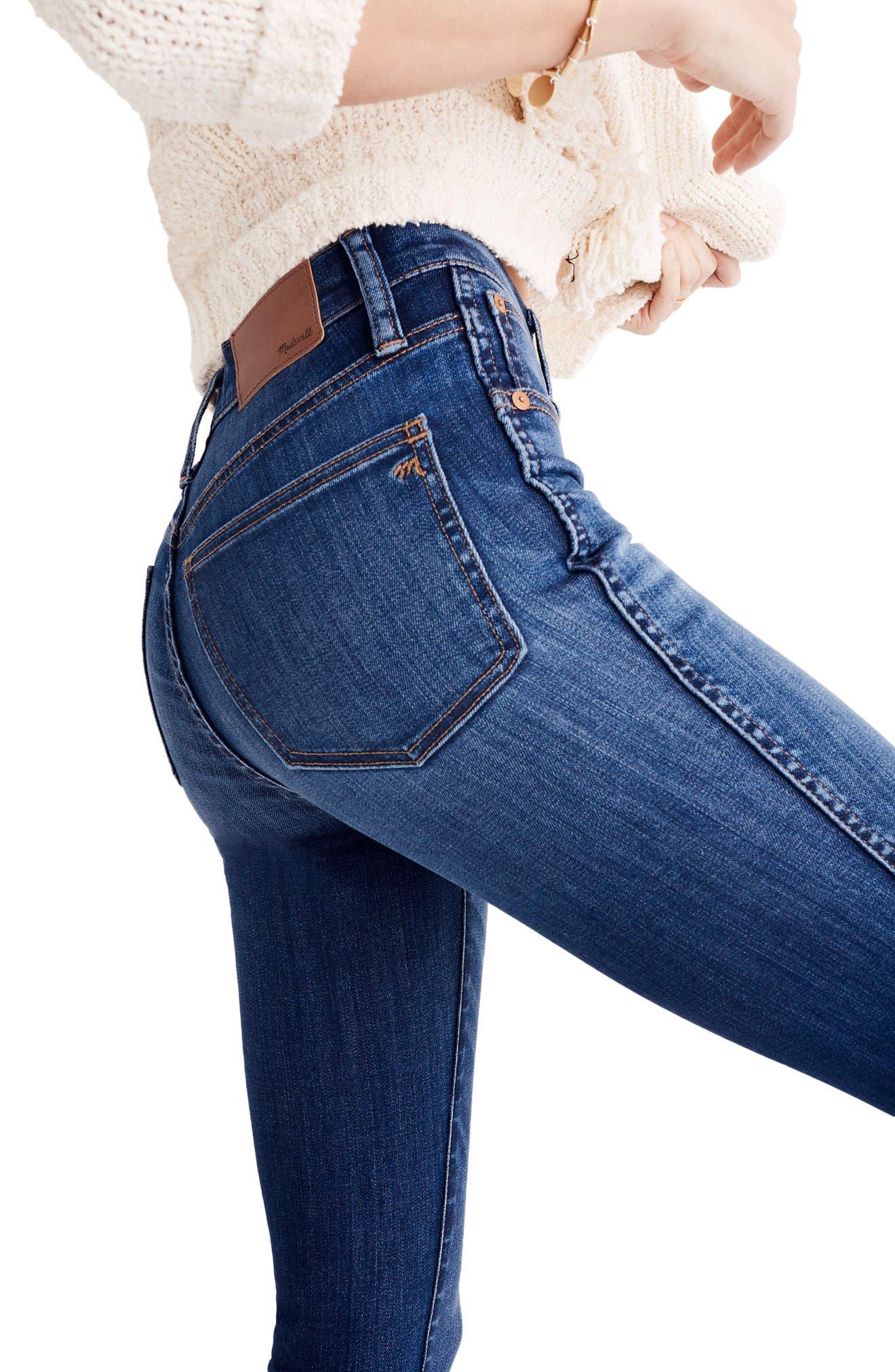Alternate Image 3  - Madewell 10-Inch High Waist Skinny Jeans (Danny)(Petite)