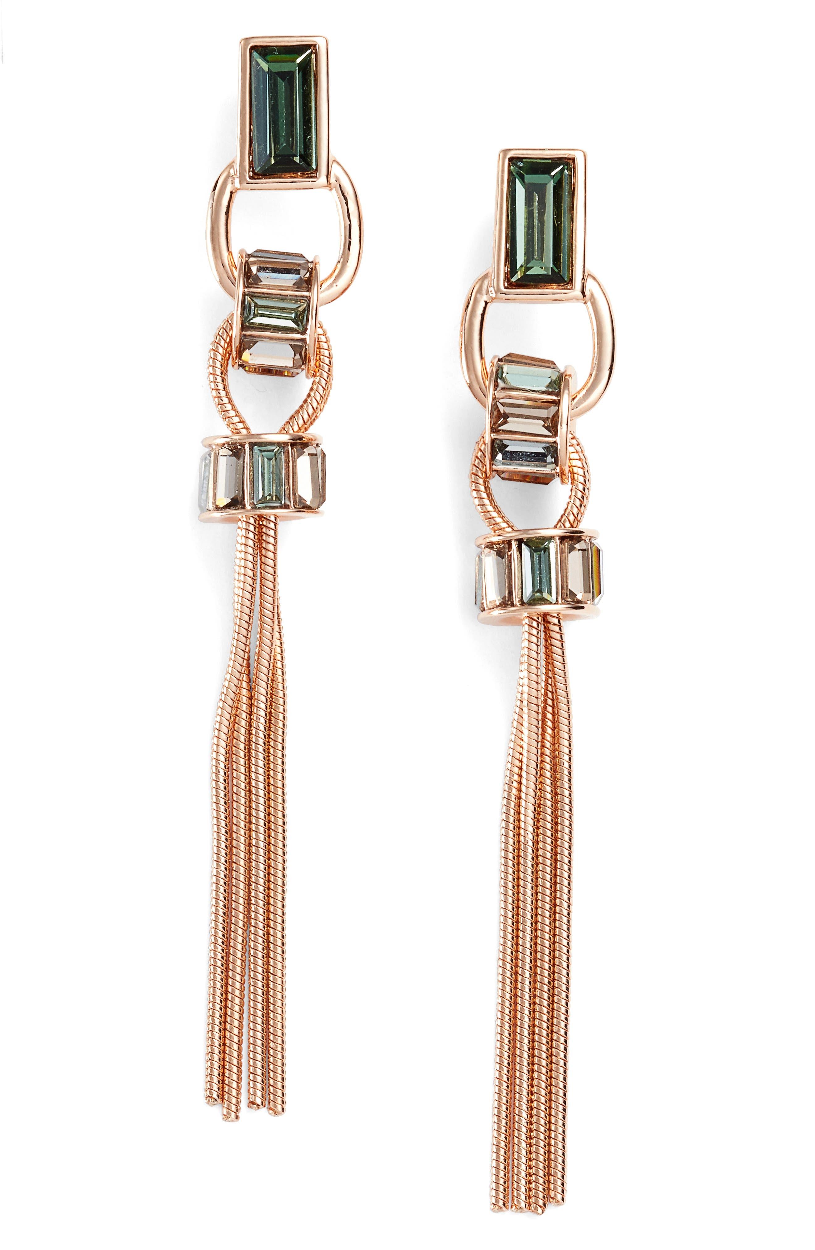 VINCE CAMUTO Linear Tassel Earring