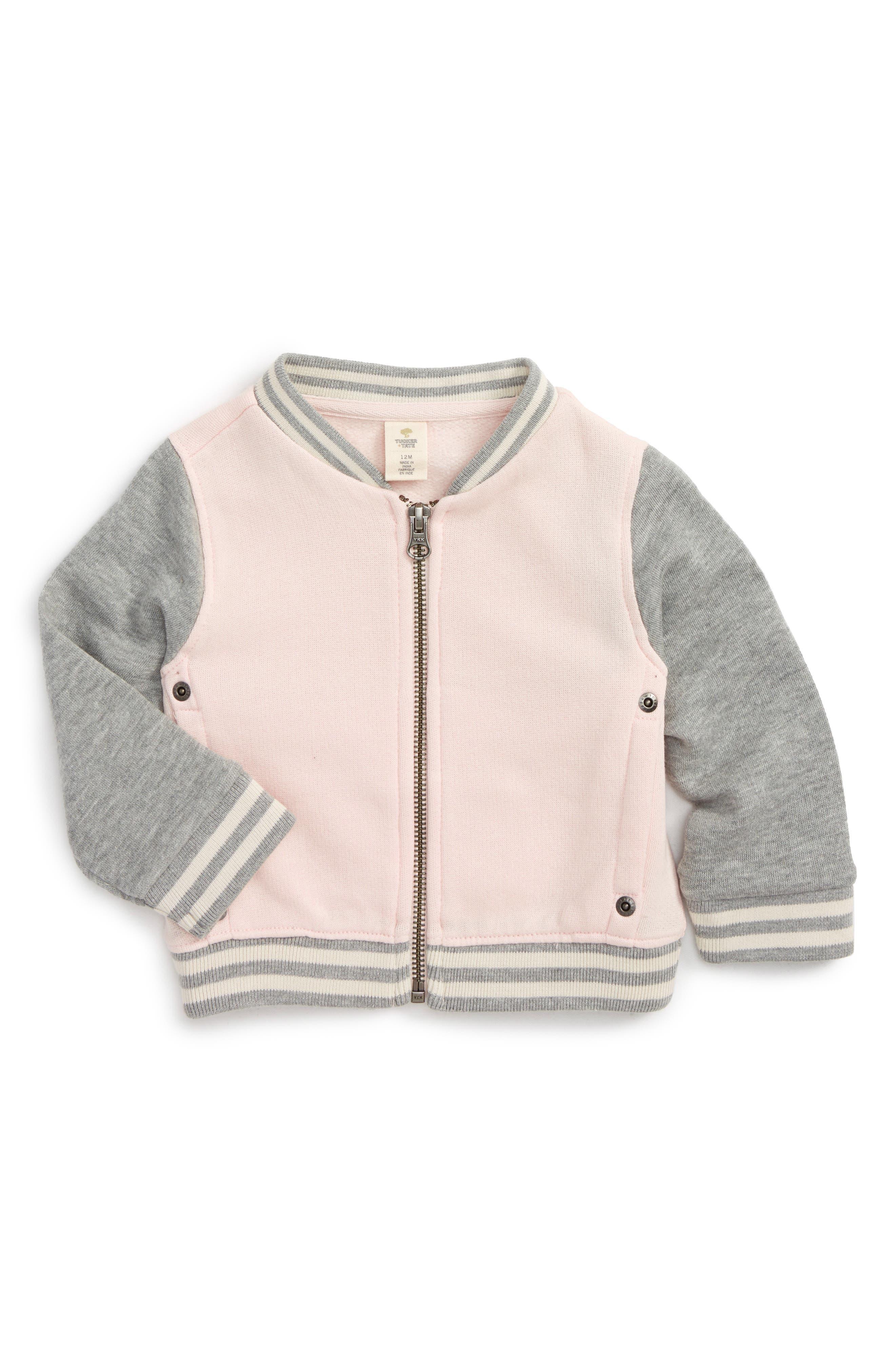 Bomber Jacket,                             Main thumbnail 1, color,                             Pink Glow