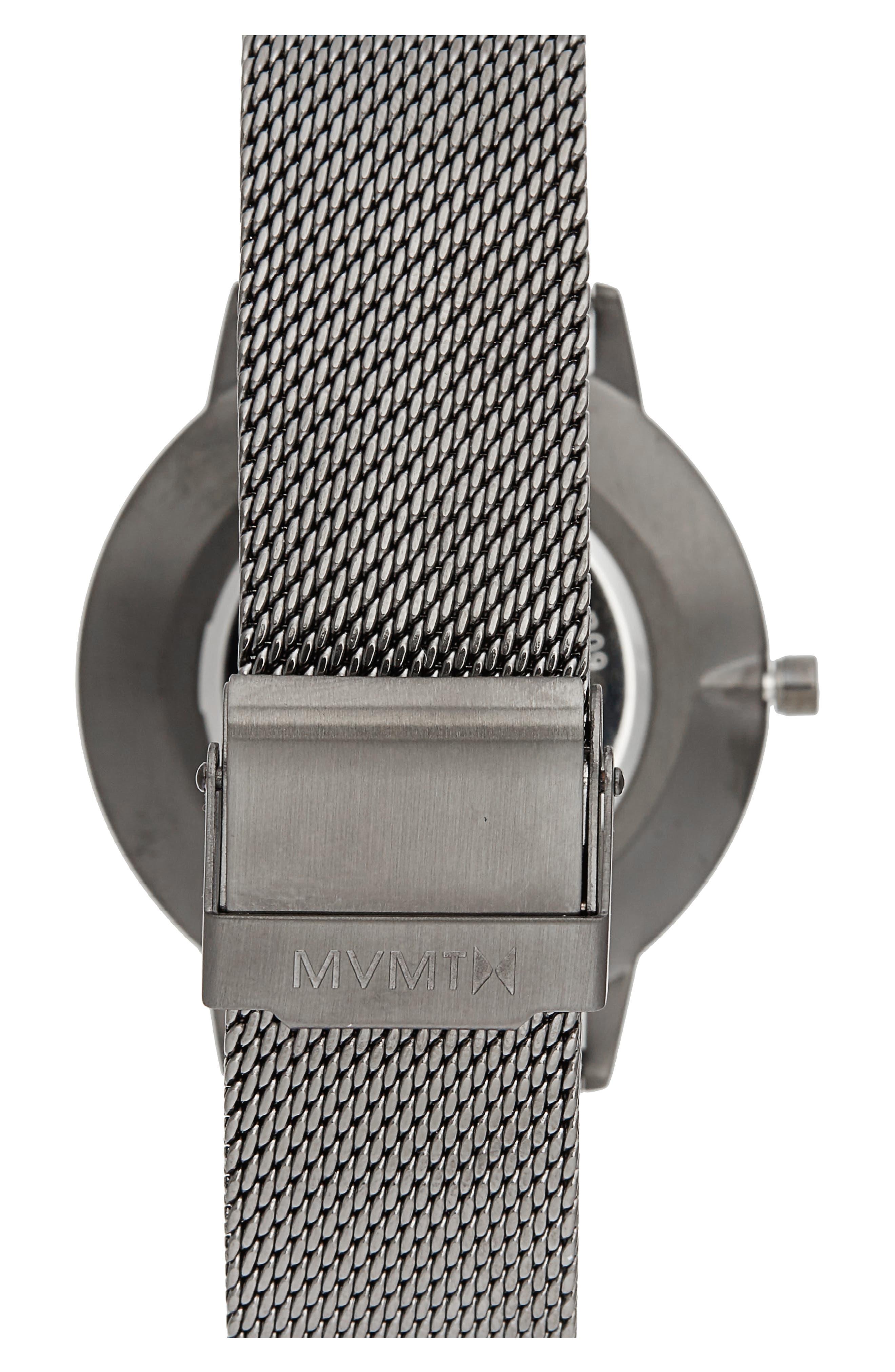 Boulevard Mesh Strap Watch, 38mm,                             Alternate thumbnail 2, color,                             Grey/ Rose Gold