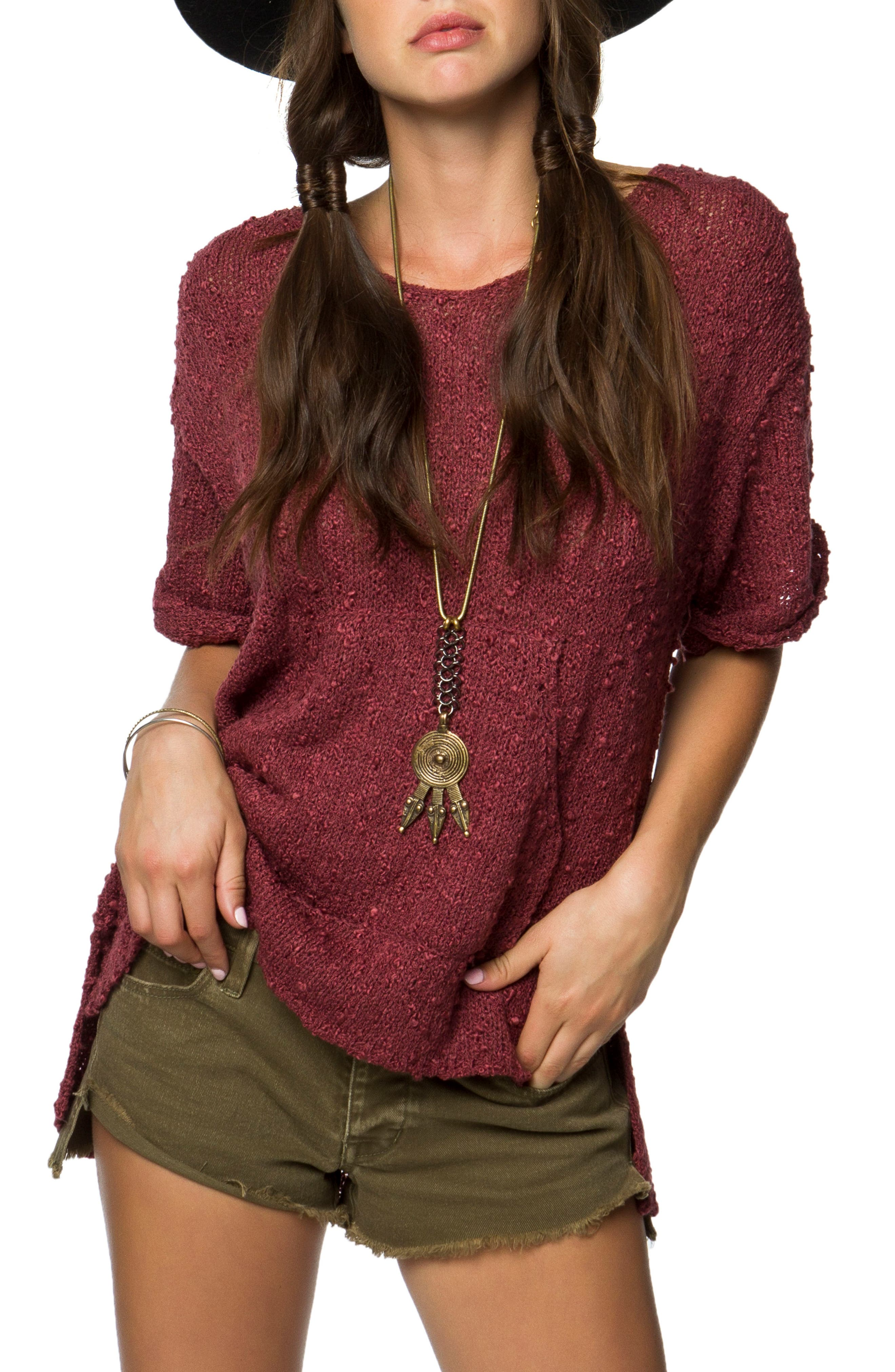 Canyon Sweater,                         Main,                         color, Roan Rouge