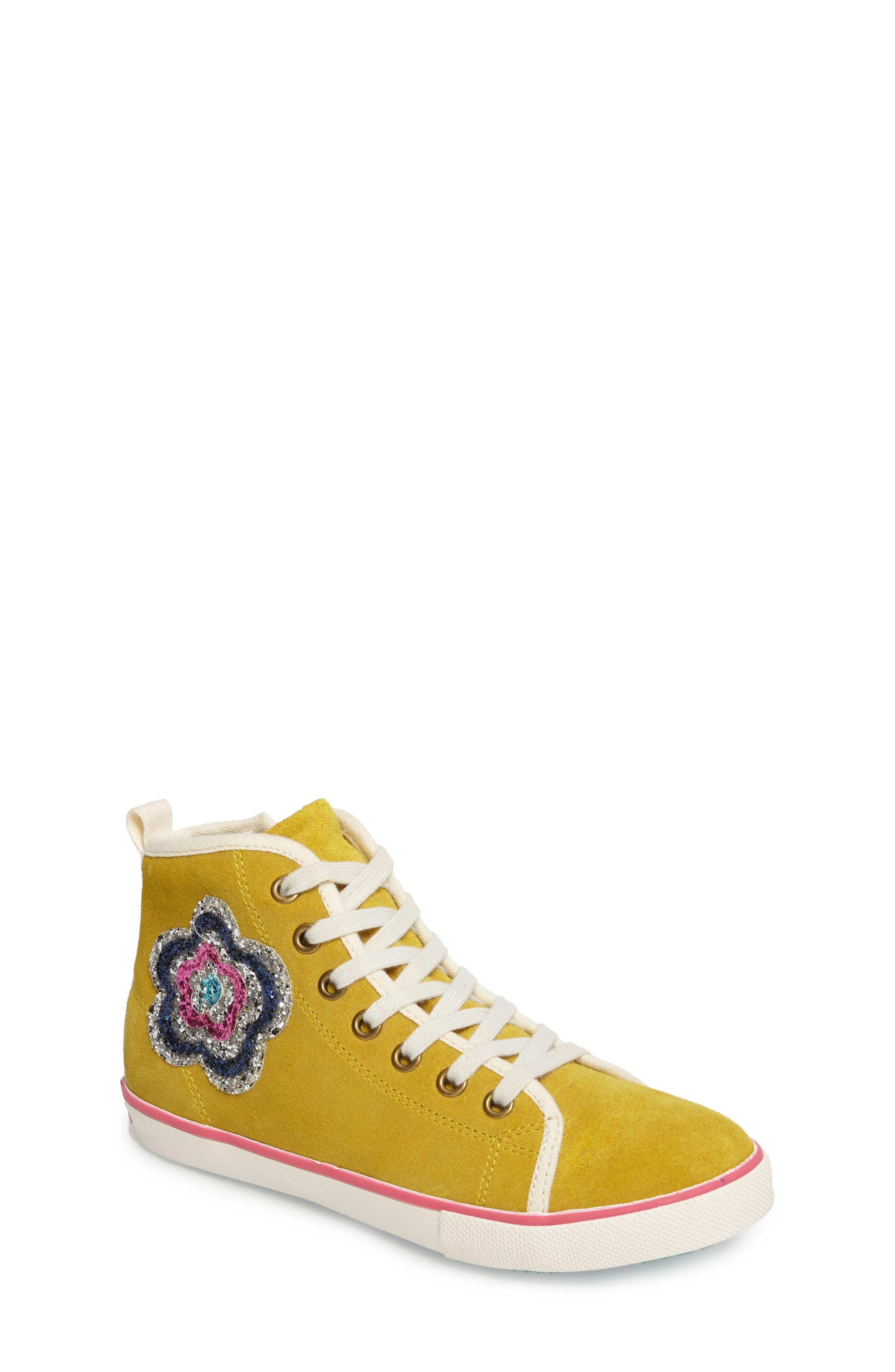 Mini Boden Embellished High Top Sneaker (Toddler, Little Kid & Big Kid)