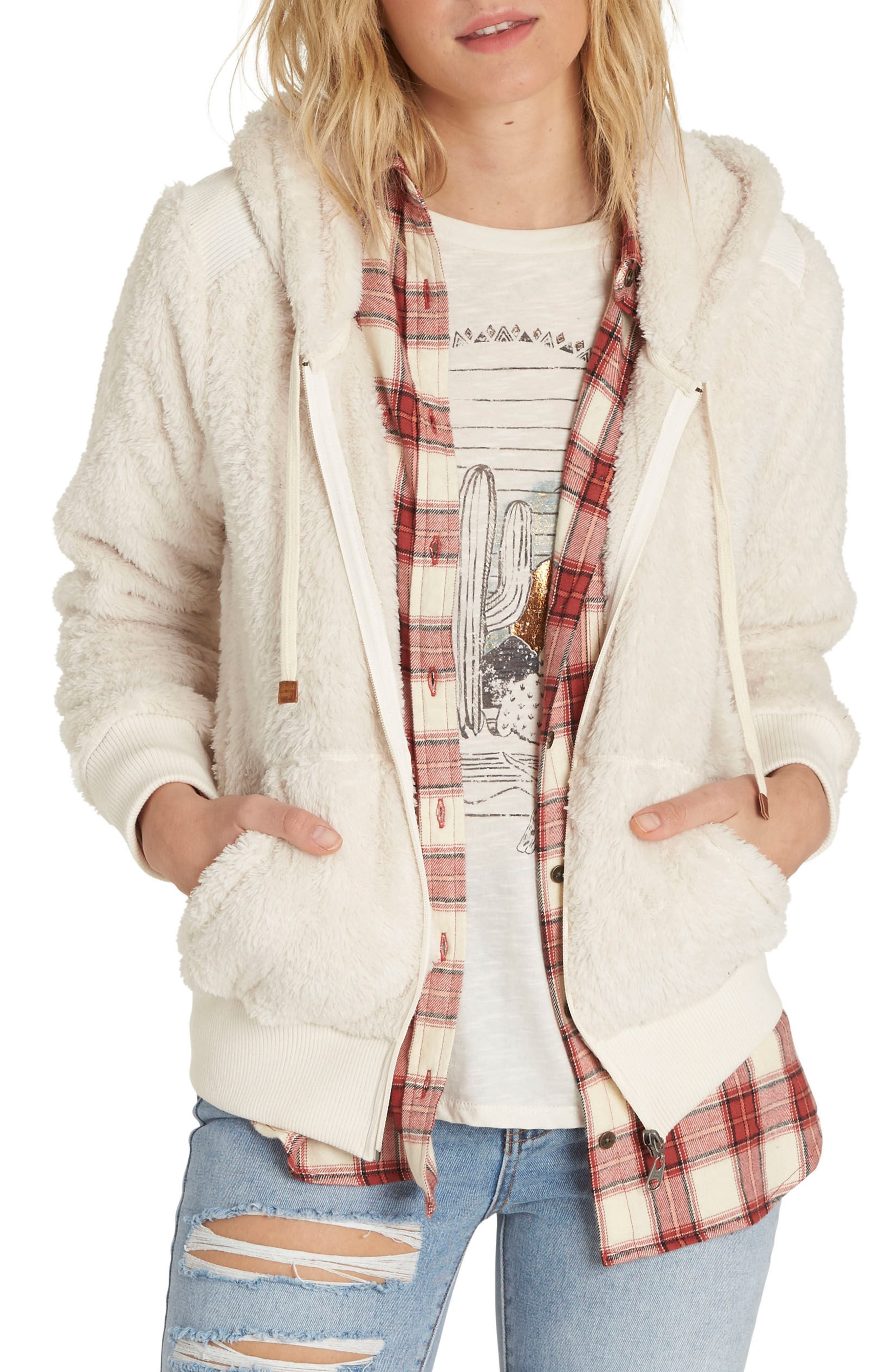 Cozy Hoodie,                             Main thumbnail 1, color,                             Coconut Shell