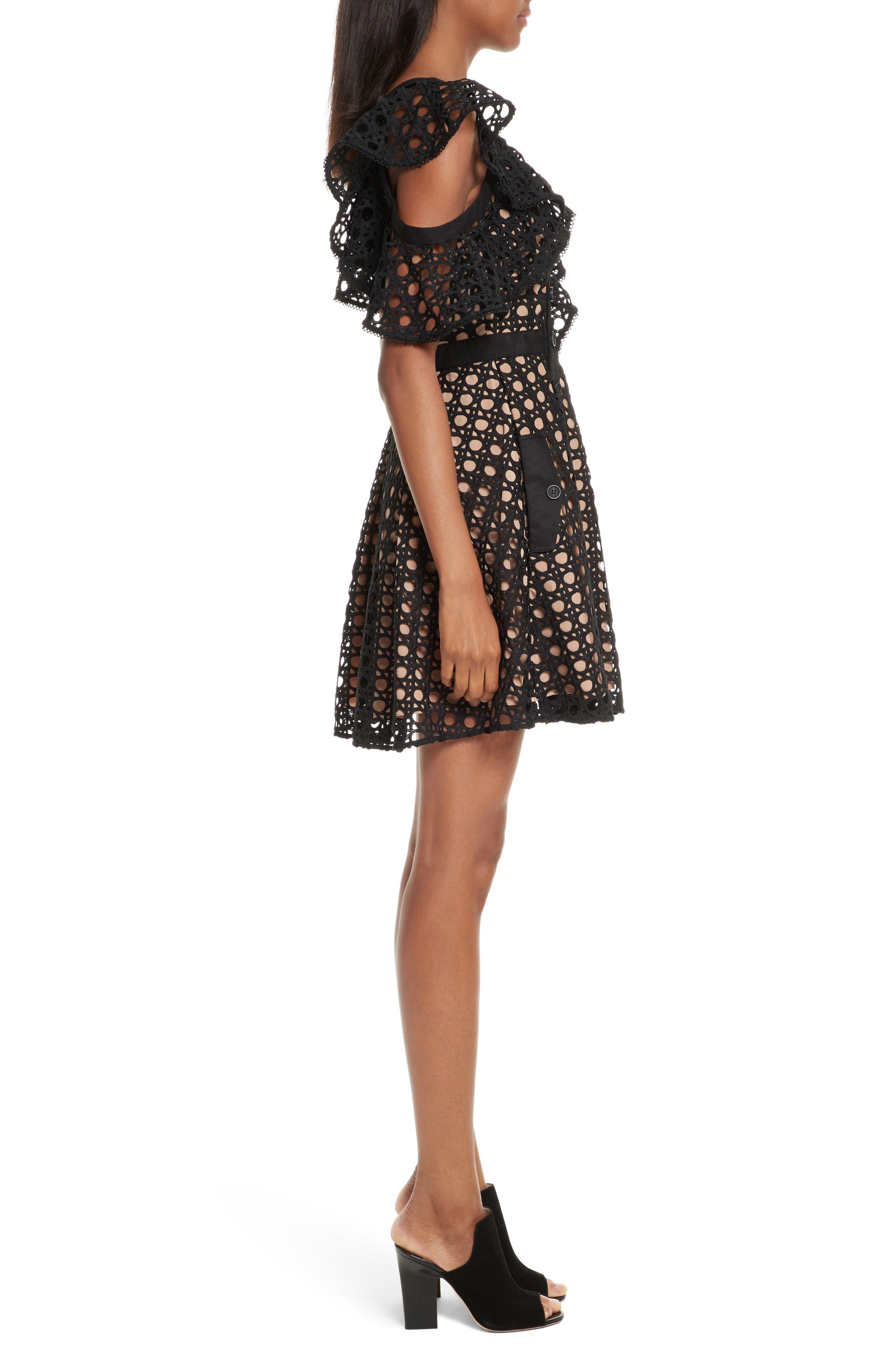 Alternate Image 3  - Self-Portrait Lace Frill Minidress
