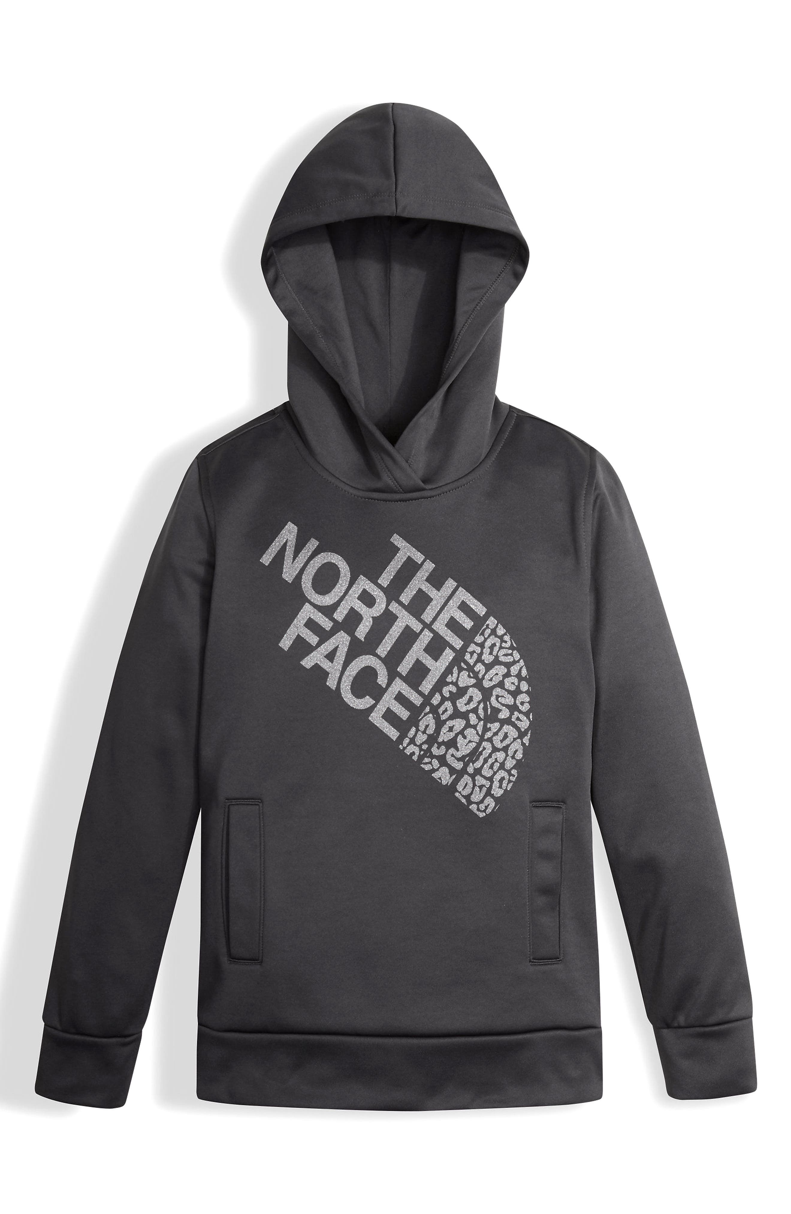 Main Image - The North Face Surgent Fleece Pullover Hoodie (Big Girls)