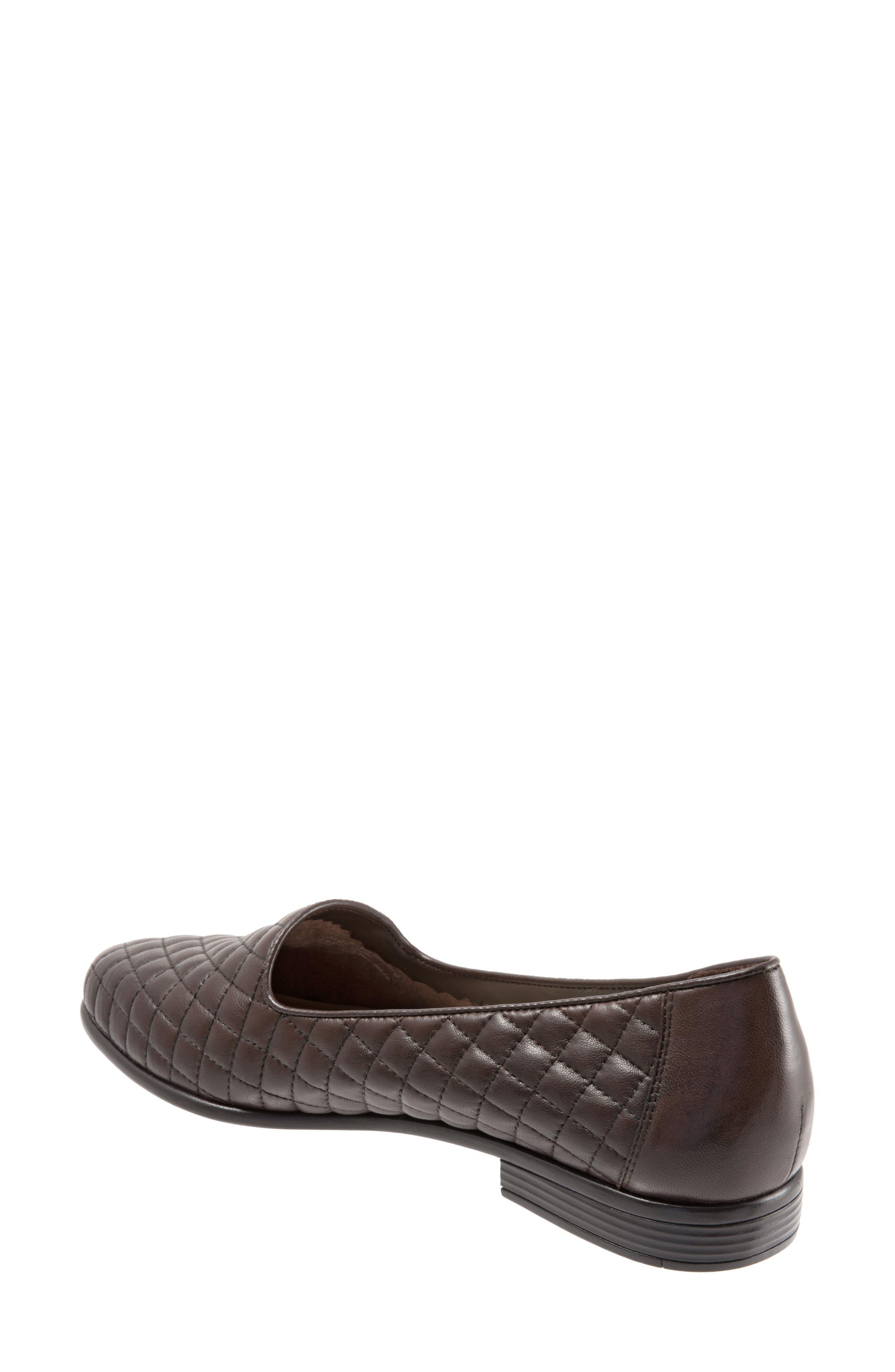 Liz Woven Loafer Flat,                             Alternate thumbnail 2, color,                             Dark Brown Leather