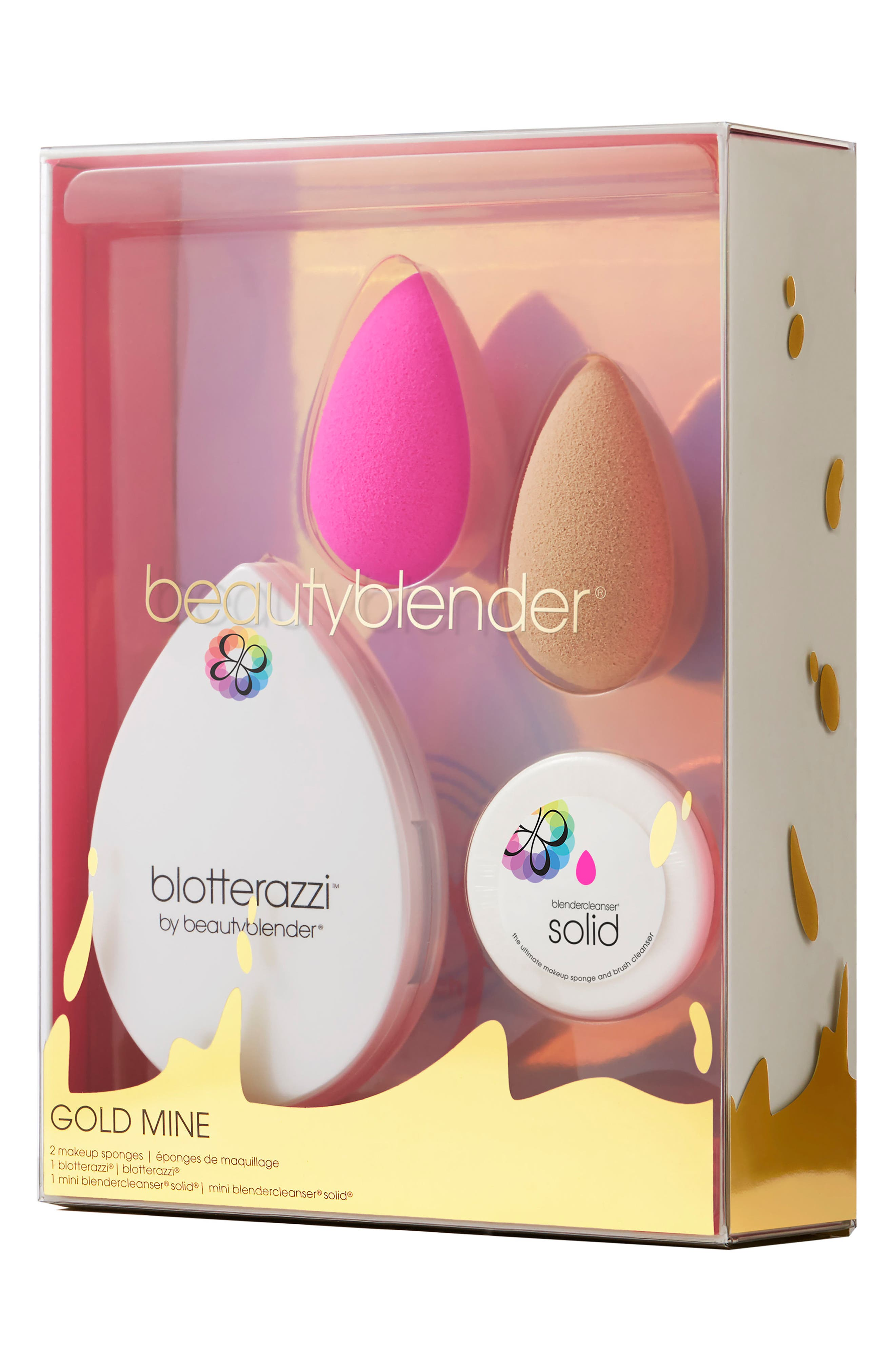 beautyblender® gold mine Makeup Sponge Applicator & Cleanser Set ($68 Value)