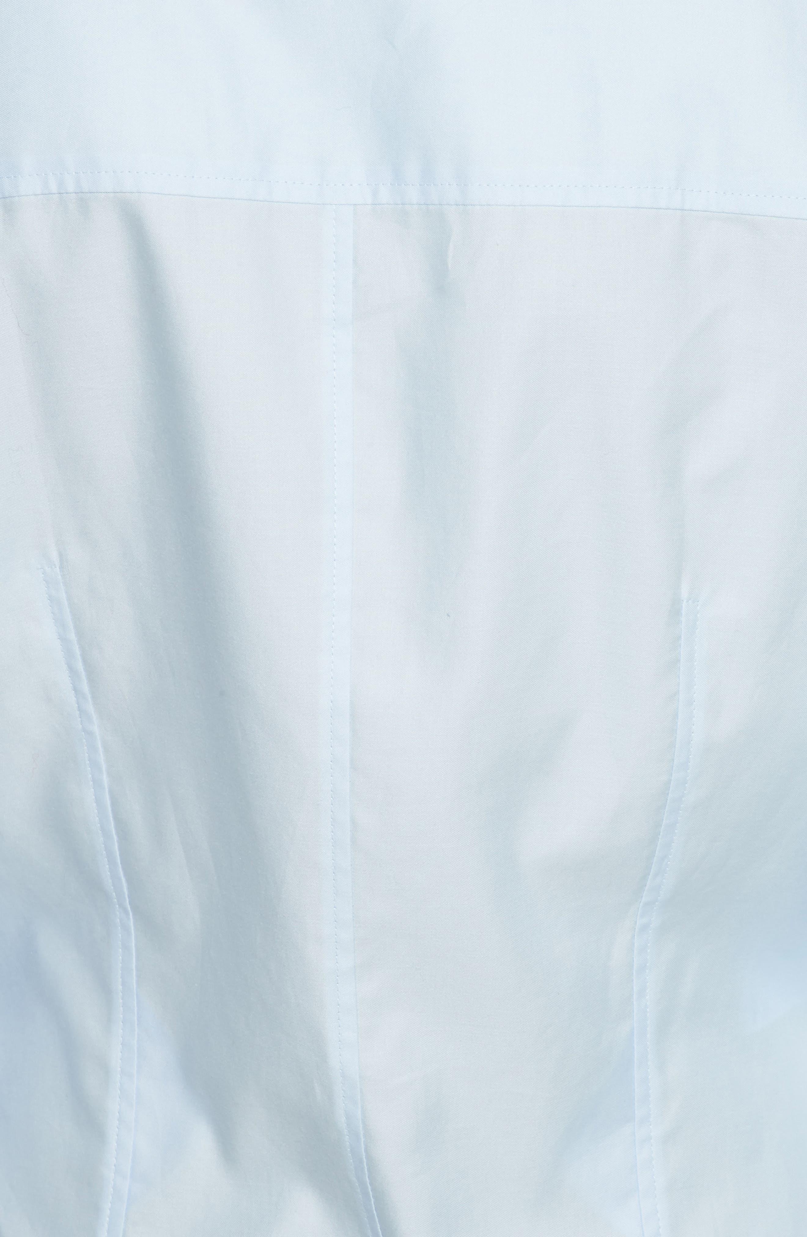 Carina Cotton Poplin Shirtdress,                             Alternate thumbnail 5, color,                             Oxford Blue