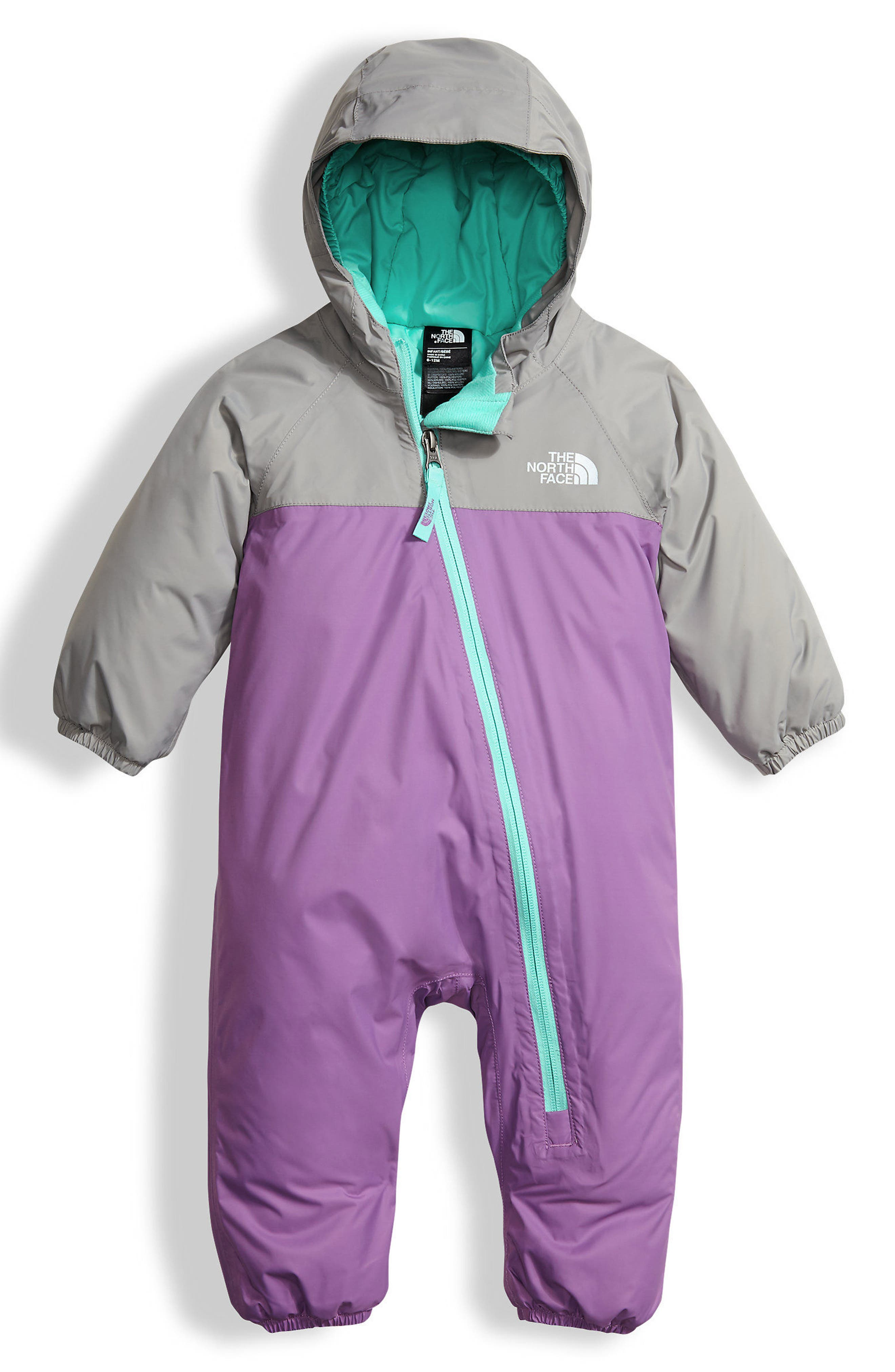 Main Image - The North Face Tailout TriClimate® 3-in-1 One-Piece Rain Suit (Baby Girls)
