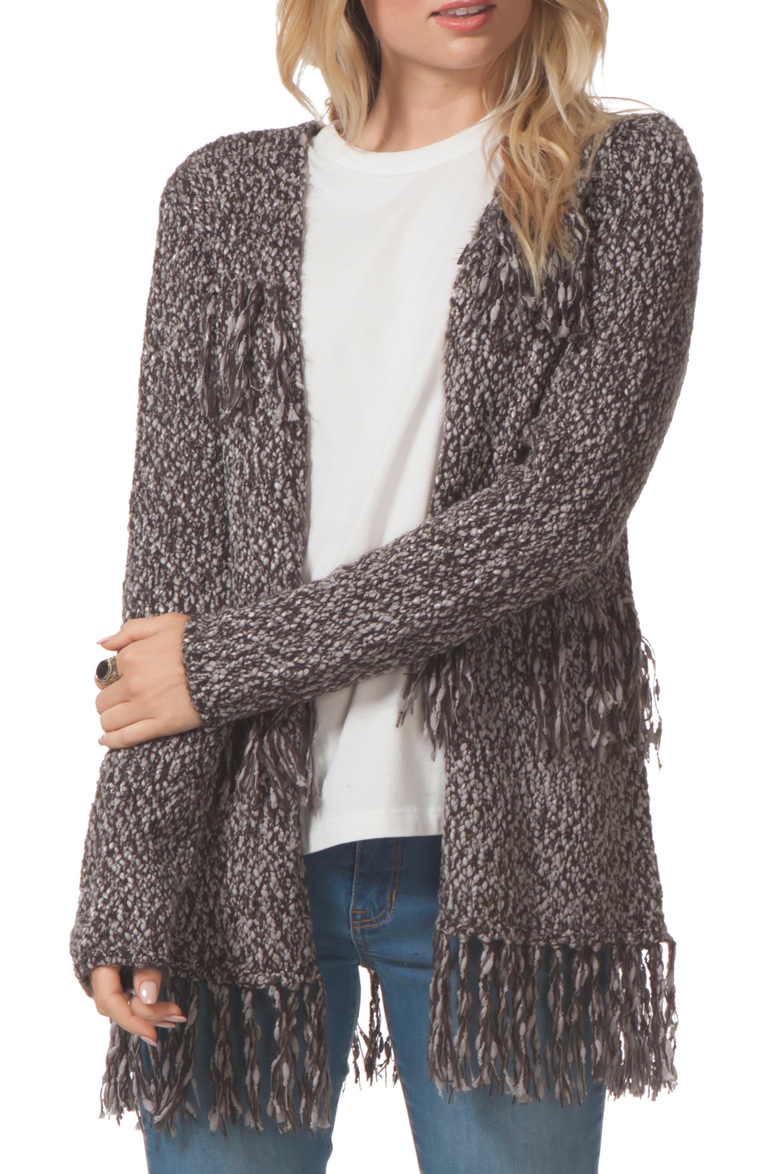 Heirloom Sweater Jacket,                         Main,                         color, Charcoal