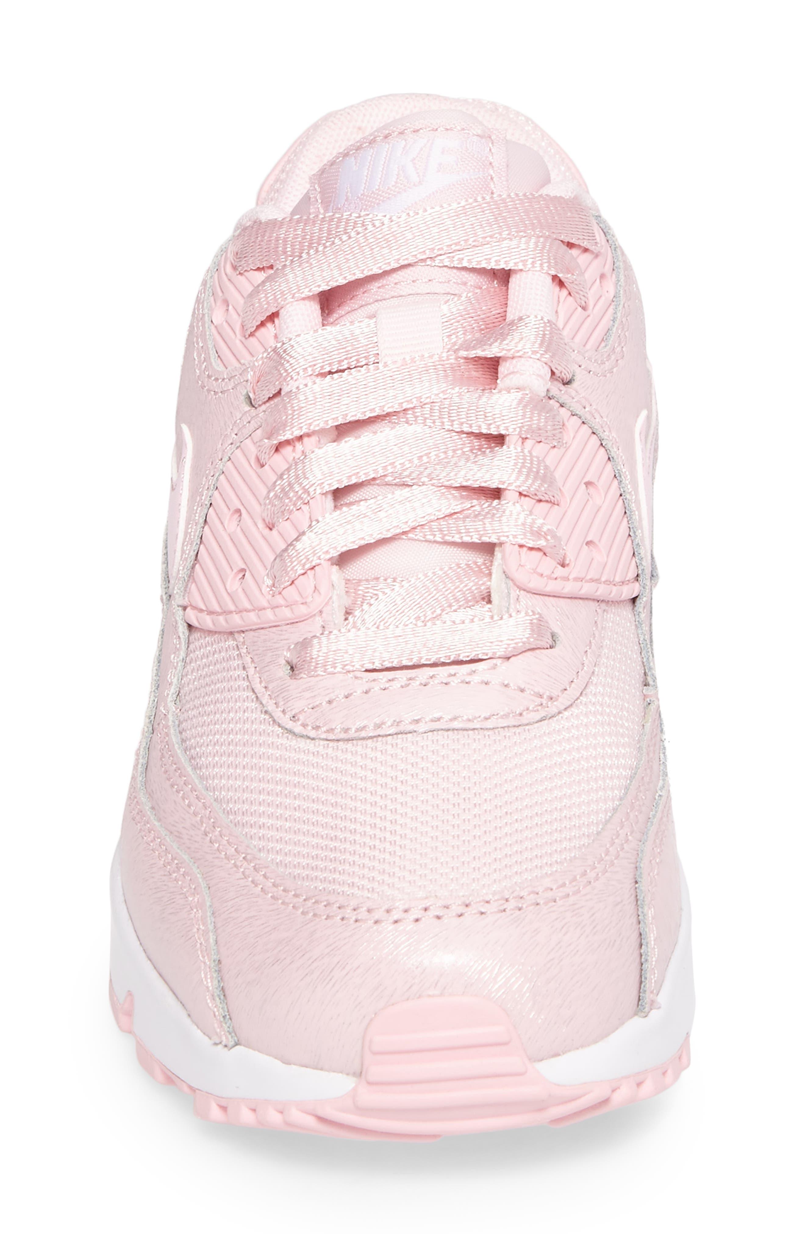 Air Max 90 Mesh Sneaker,                             Alternate thumbnail 3, color,                             Prism Pink/ White