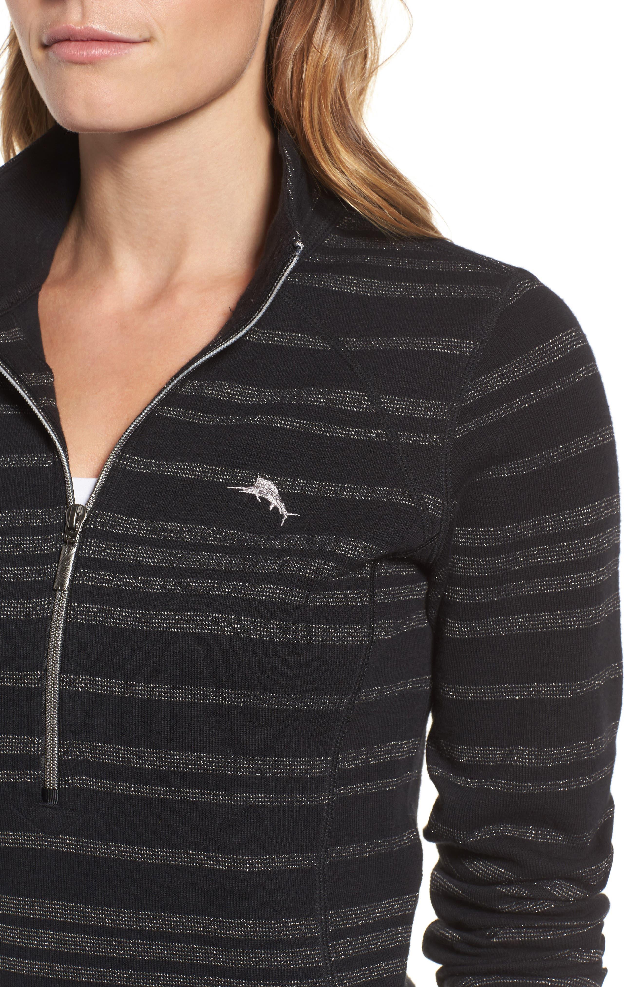 Alternate Image 4  - Tommy Bahama Aruba Shazam Stripe Half-Zip Pullover