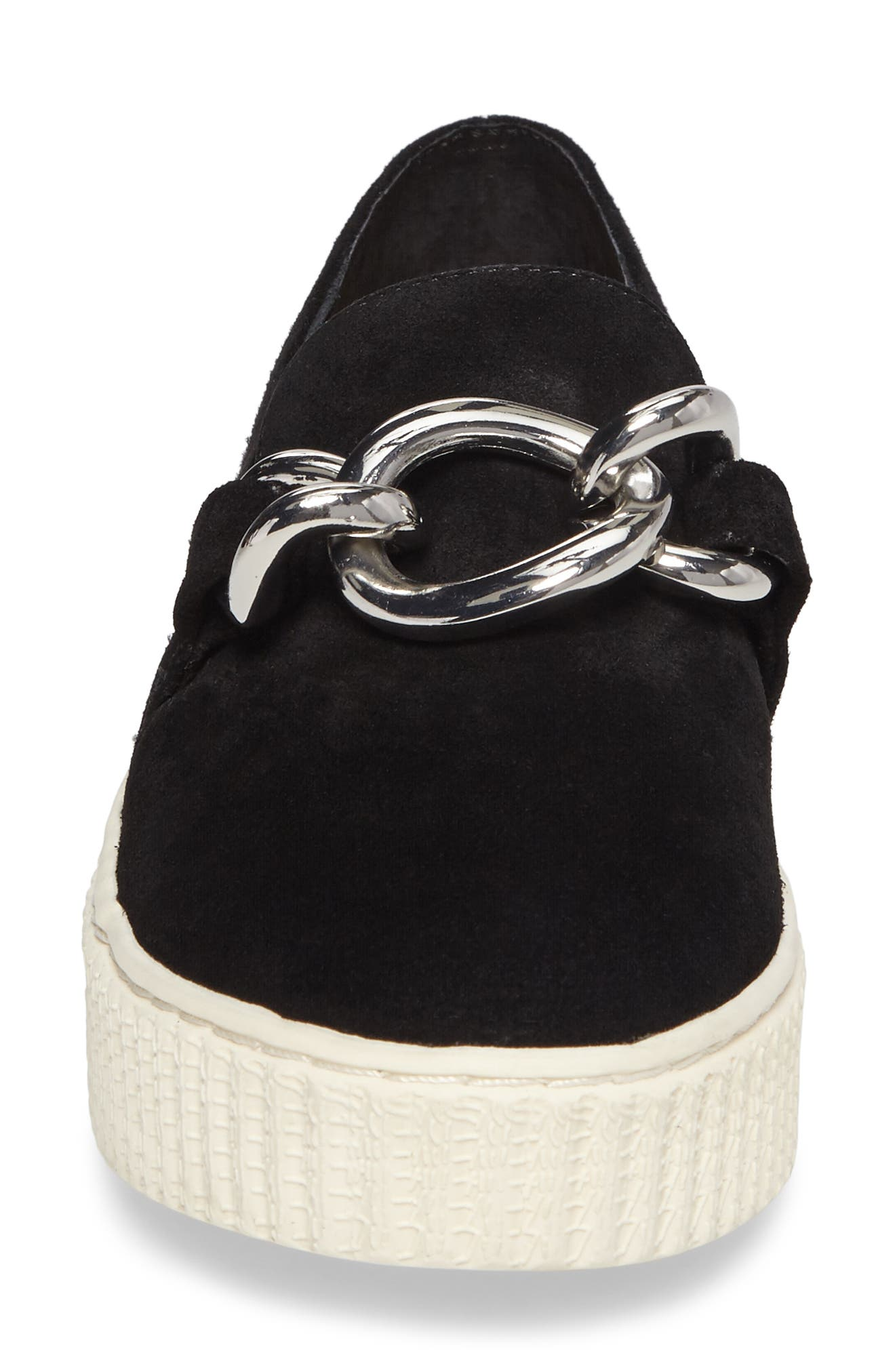 Roberta Platform Sneaker,                             Alternate thumbnail 4, color,                             Black Suede