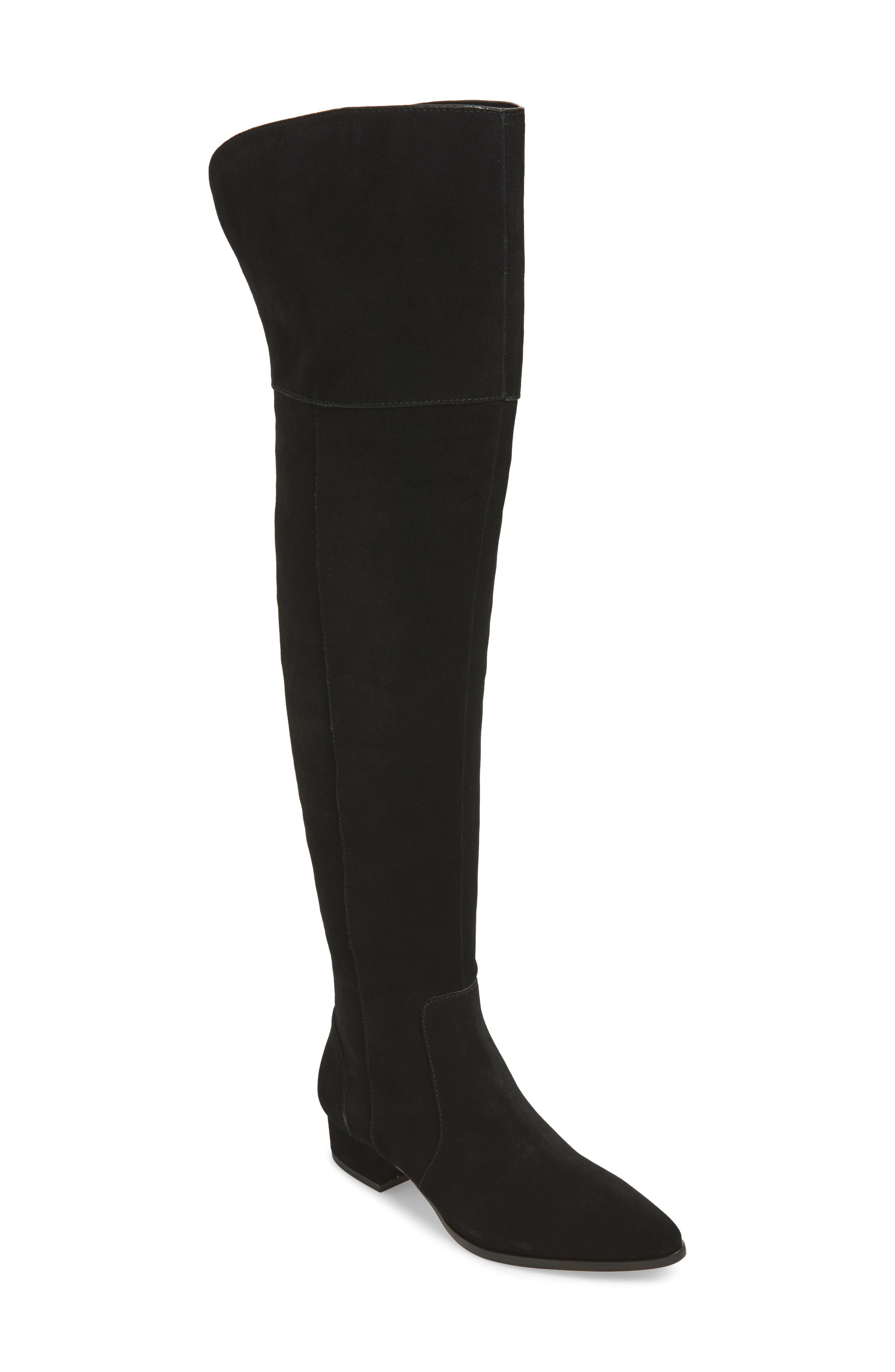 25ab54366f4 Splendid Ruby Over The Knee Boot In Black Suede