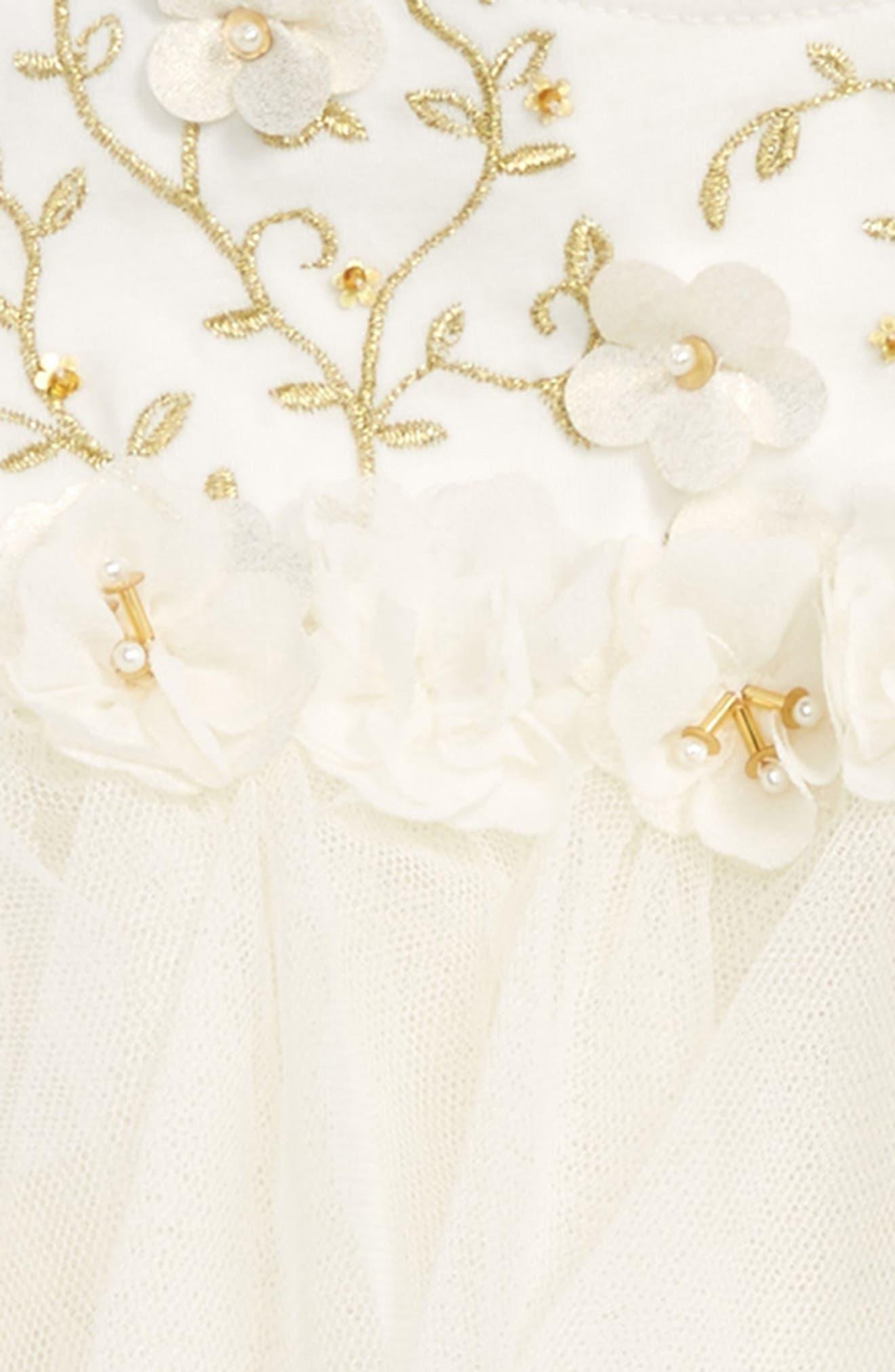 Alternate Image 2  - Biscotti Embroidered Bodice Dress (Baby Girls)