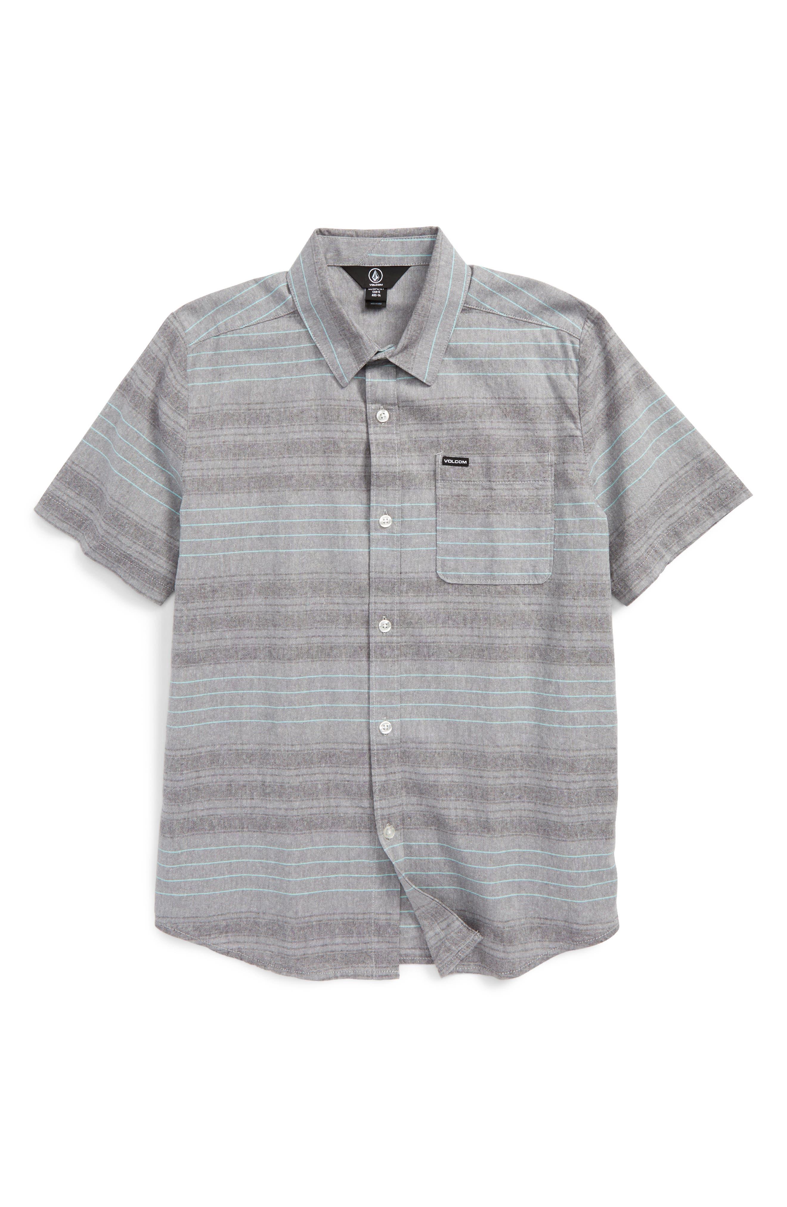 Volcom Meyer Stripe Woven Shirt (Big Boys)