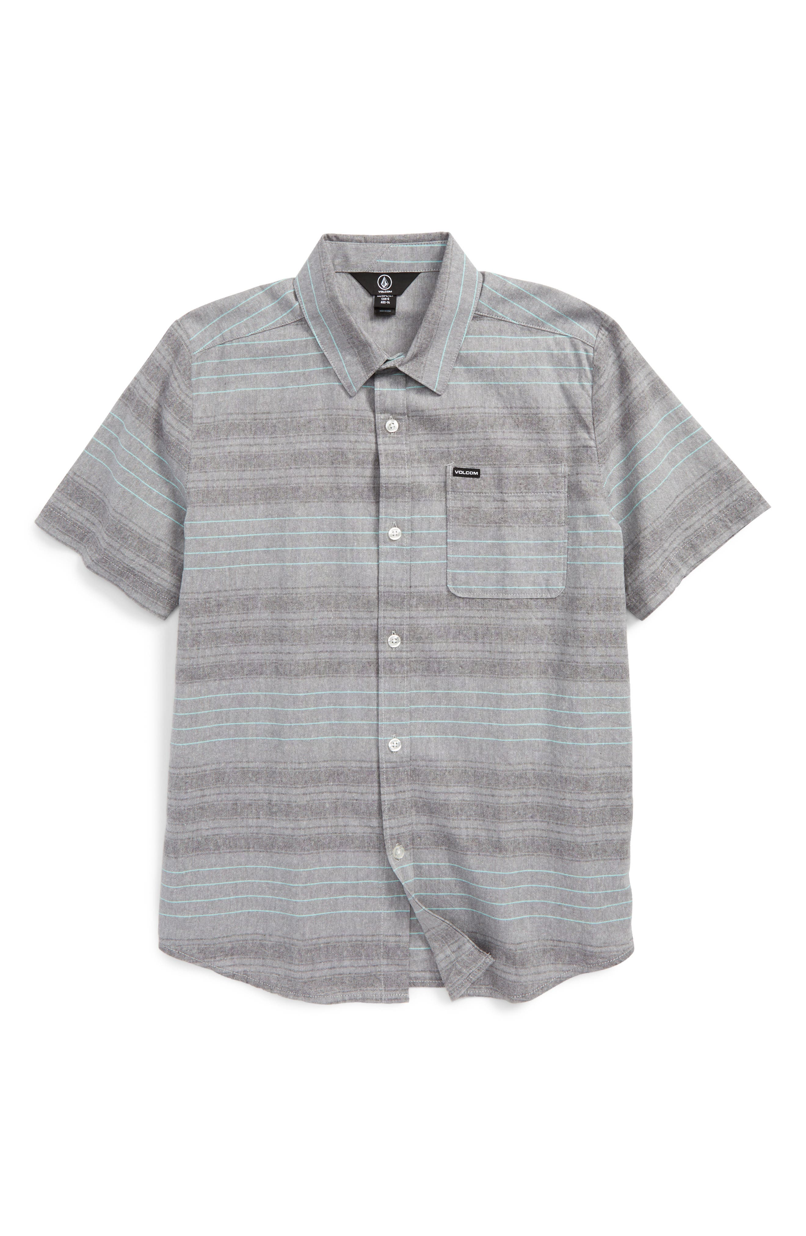 Volcom Meyer Stripe Woven Shirt (Big Boys)
