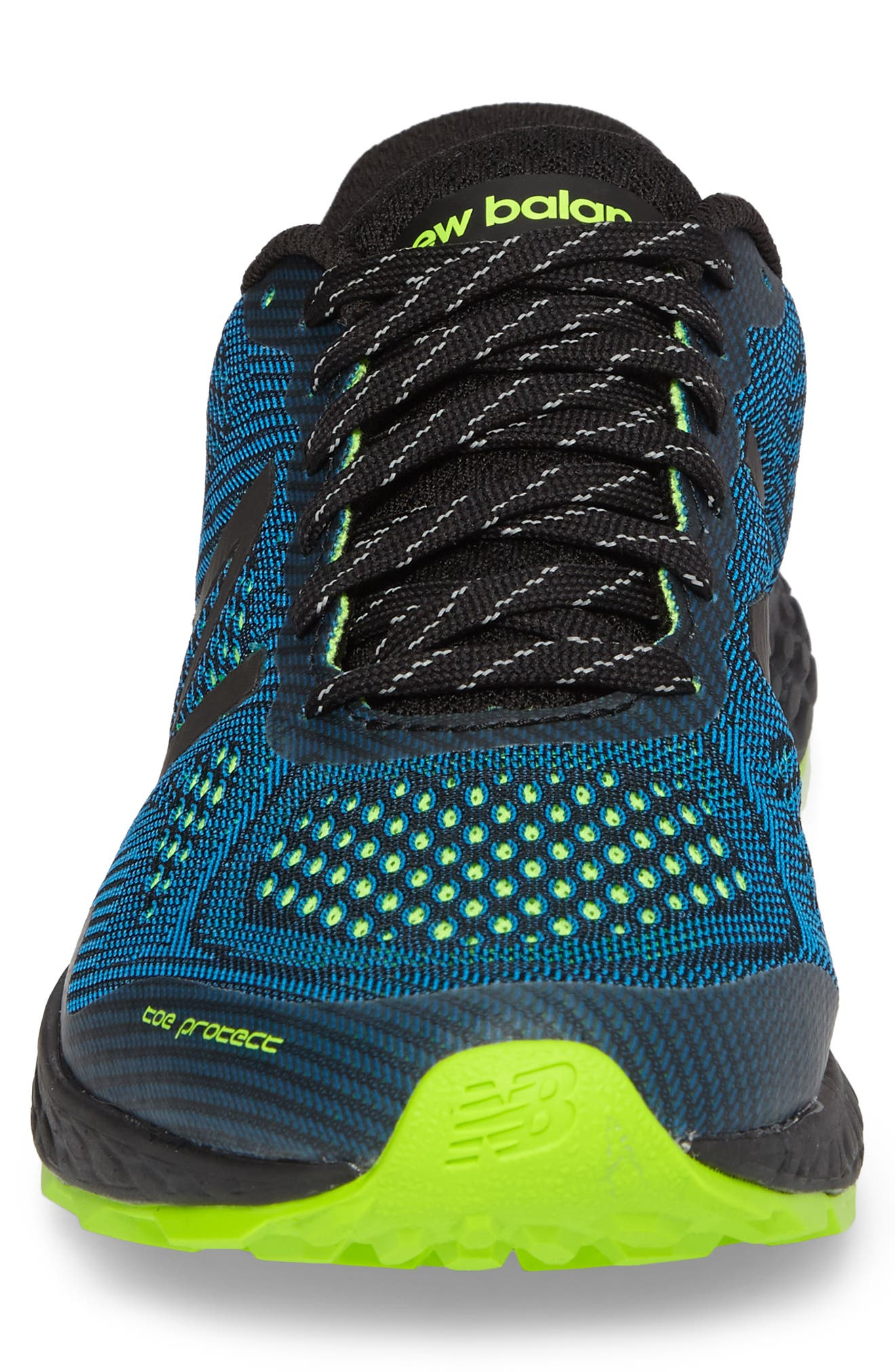 Fresh Foam Gobi V2 Trail Running Shoe,                             Alternate thumbnail 3, color,                             Black/ Blue