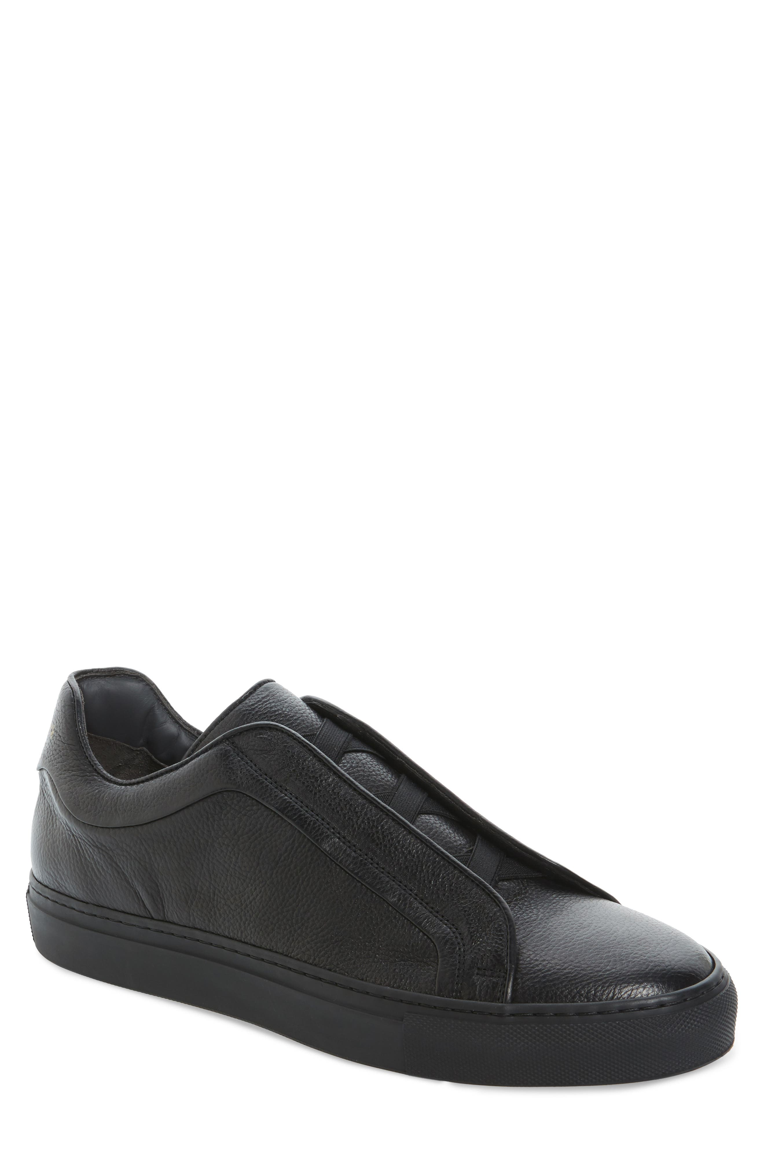 Cliff Sneaker,                         Main,                         color, Black Leather