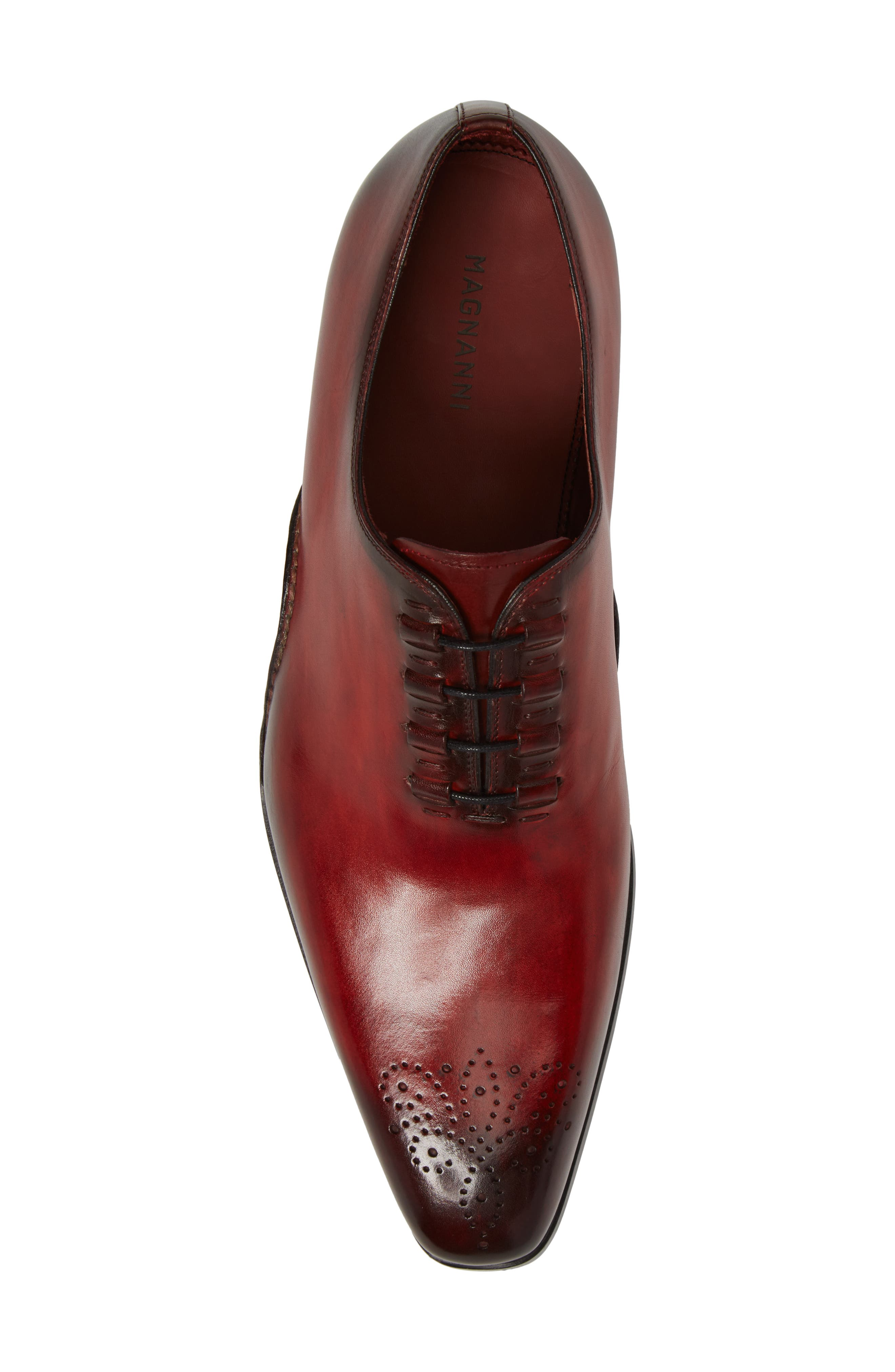 Josue Wholecut Oxford,                             Alternate thumbnail 5, color,                             Red Leather