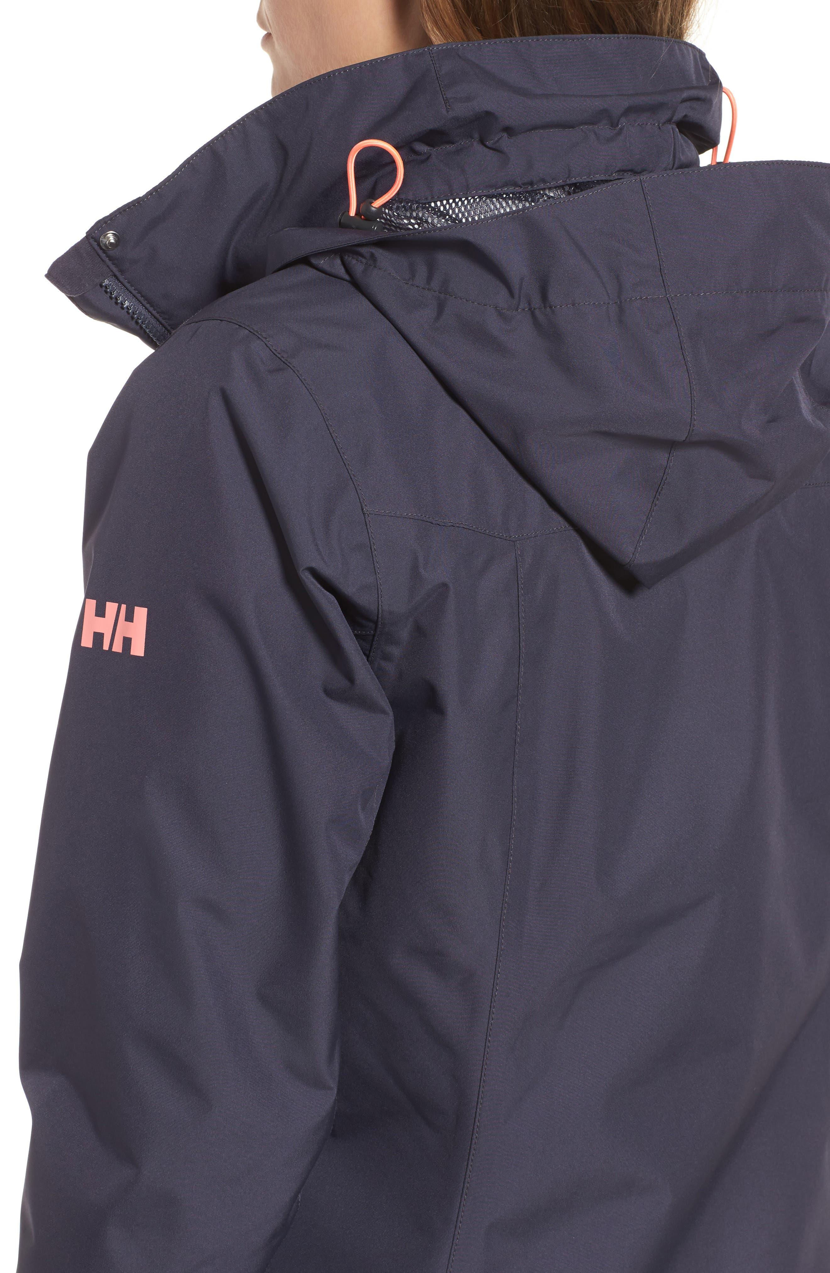 'Aden' Helly Tech<sup>®</sup> Raincoat,                             Alternate thumbnail 4, color,                             Graphite Blue