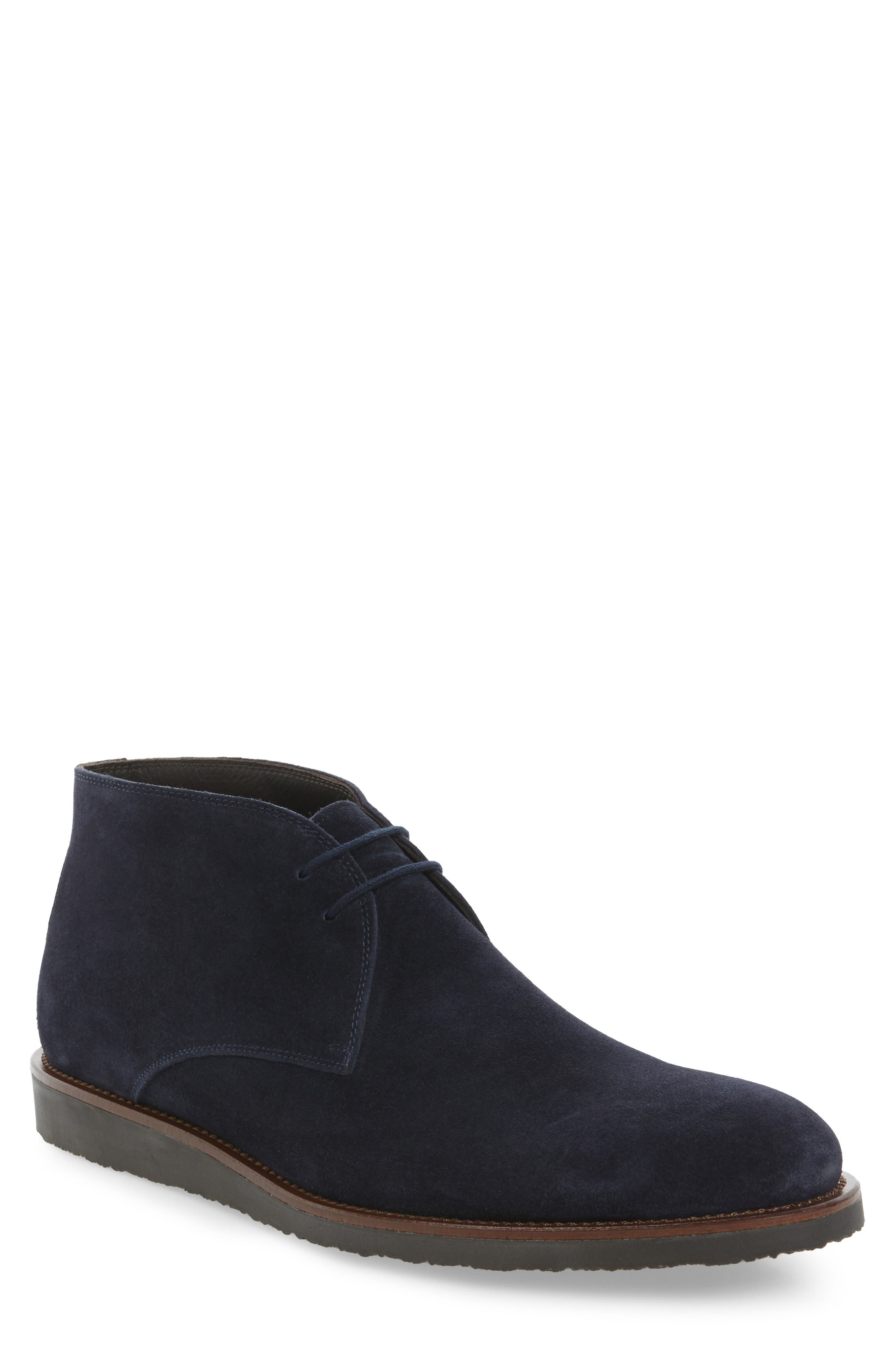 Franklin Chukka Boot,                             Main thumbnail 1, color,                             Blue Suede
