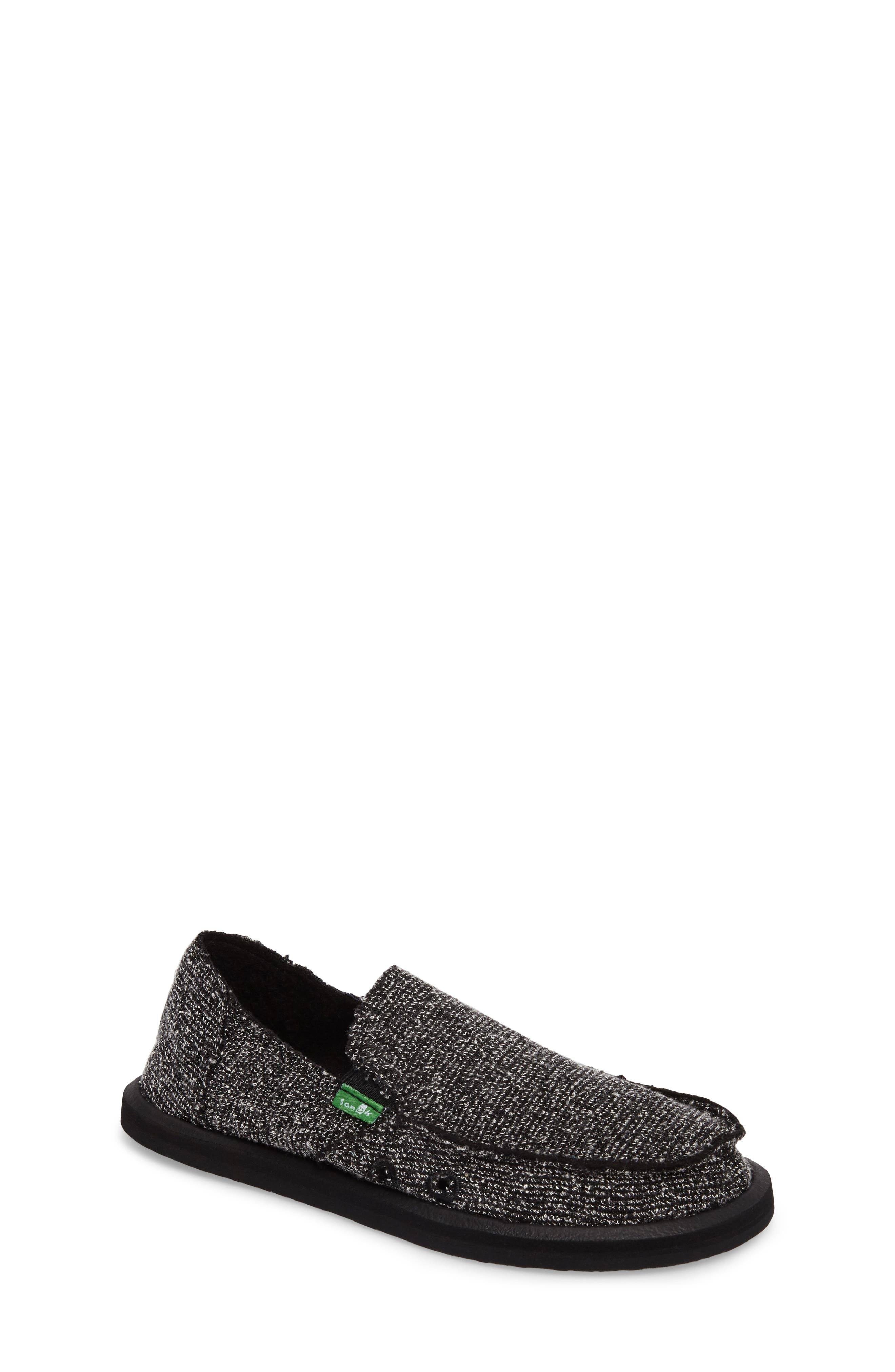 Lil Donna Knitster Slip-On,                             Main thumbnail 1, color,                             Black