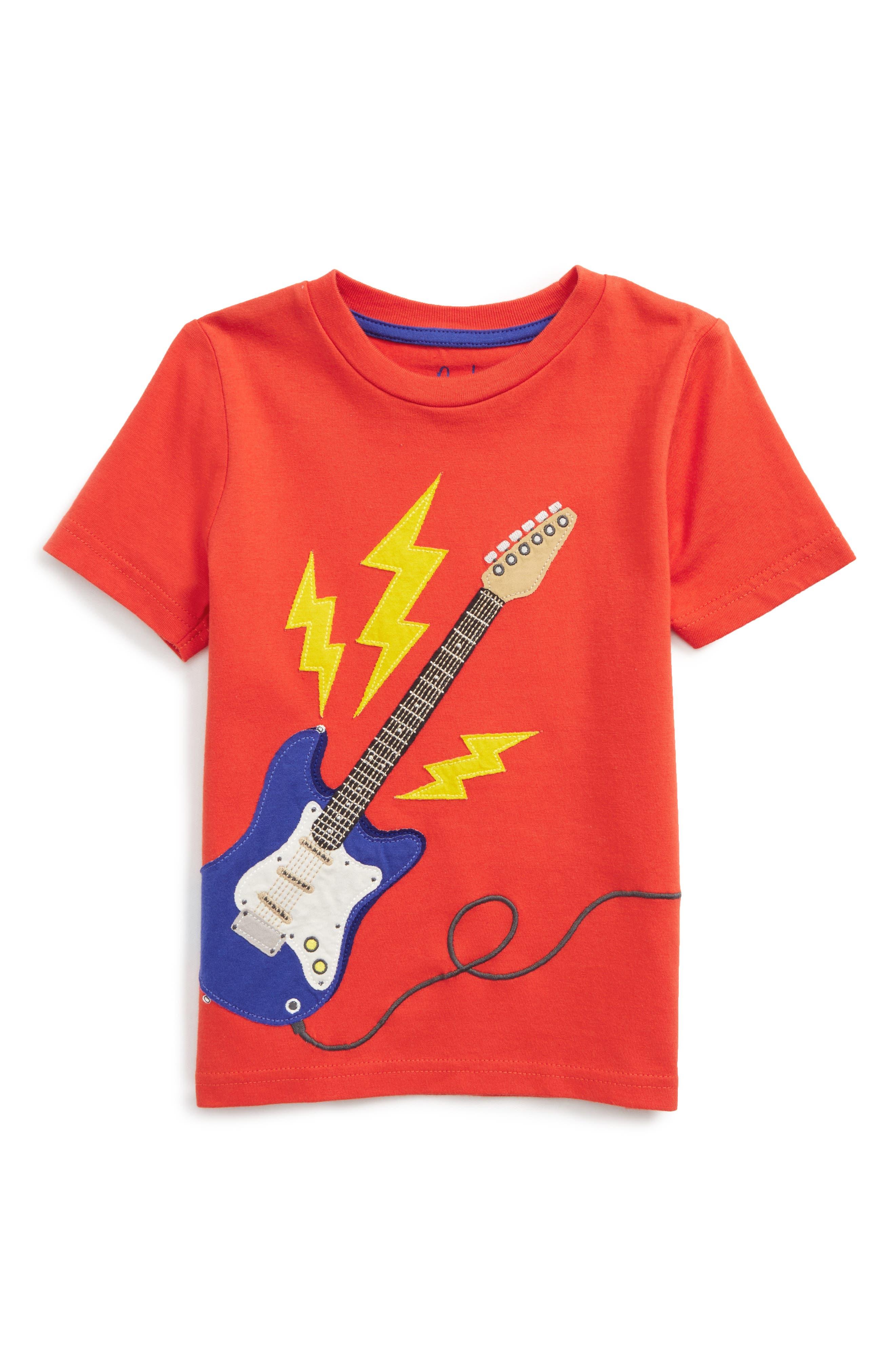 Alternate Image 1 Selected - Mini Boden Music Appliqué T-Shirt (Toddler Boys, Little Boys & Big Boys)