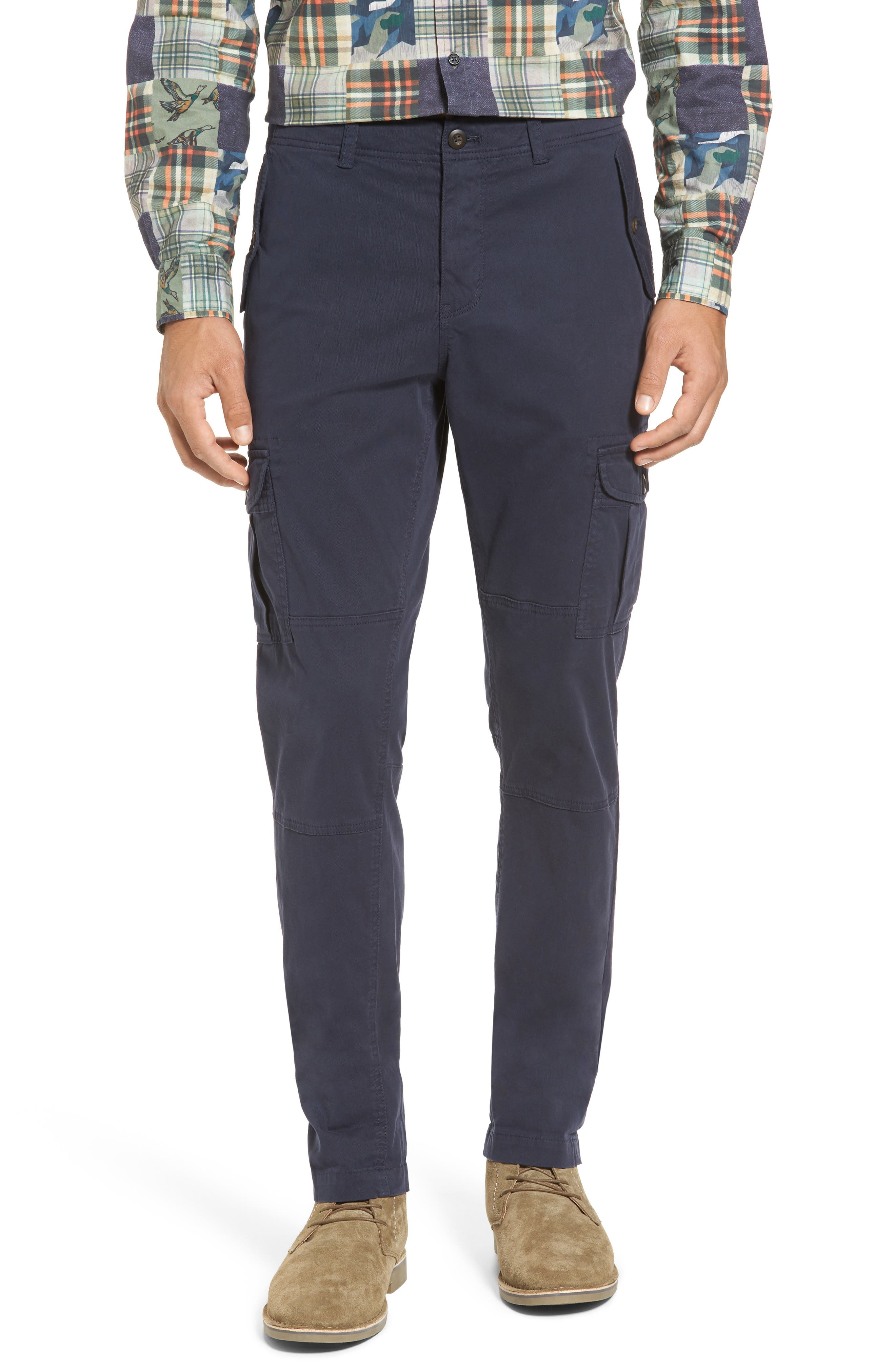Alternate Image 1 Selected - Michael Bastian Stretch Twill Cargo Pants