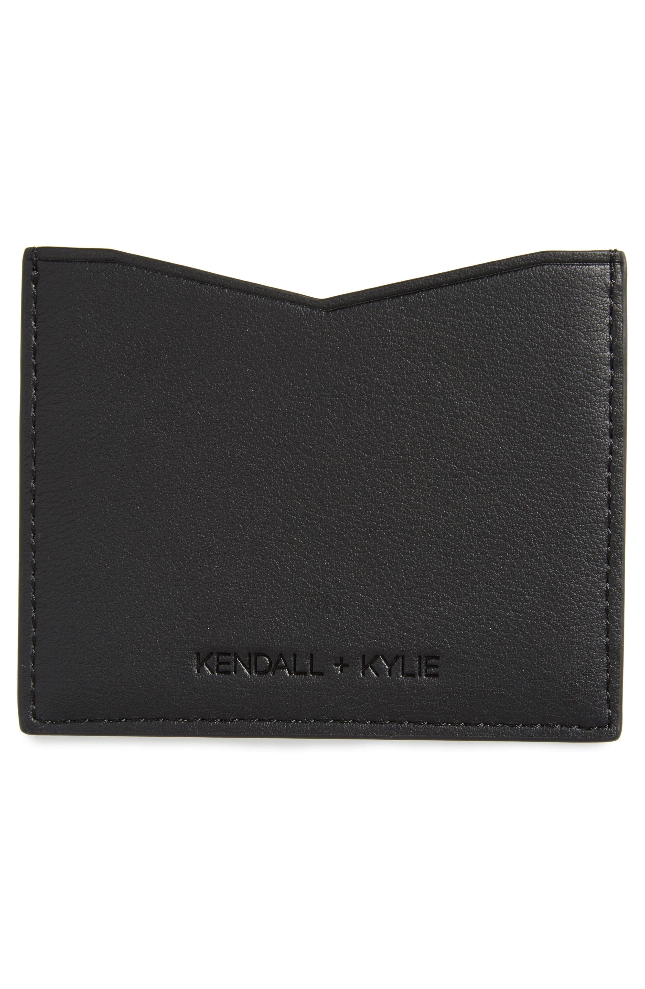 Alternate Image 2  - KENDALL + KYLIE Emma Genuine Calf Hair Card Case