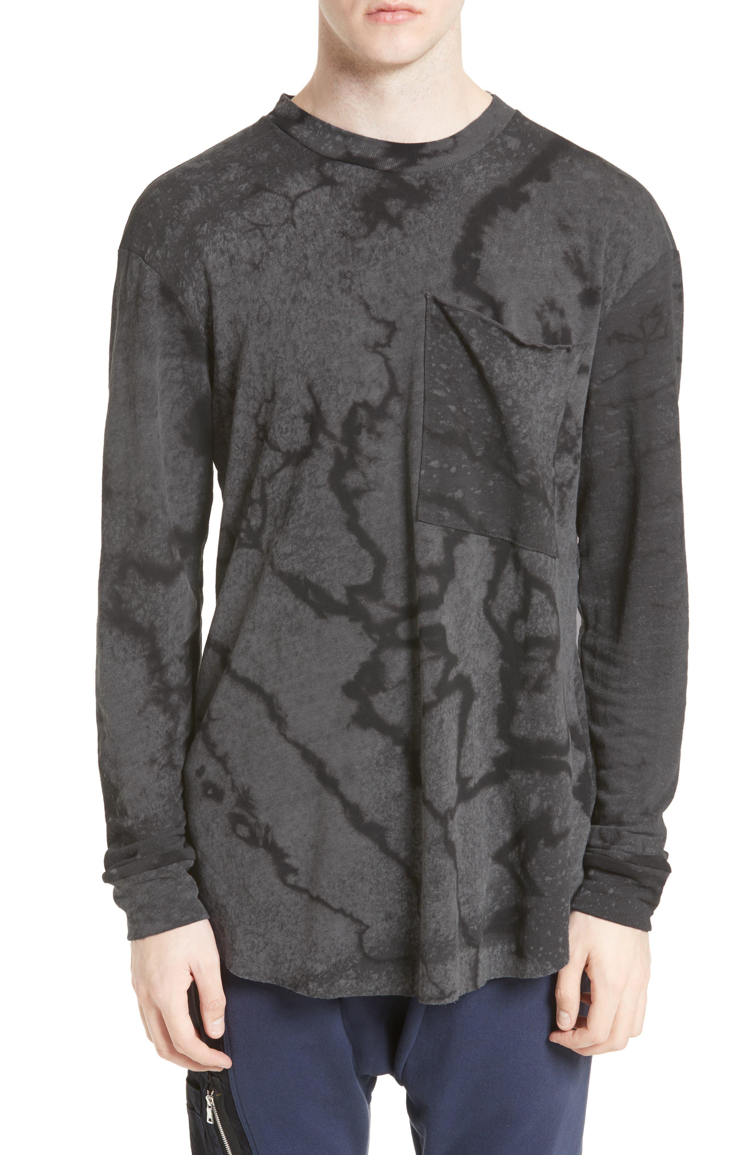 Keld Tie Dye Print T-Shirt,                             Main thumbnail 1, color,                             Black Rain