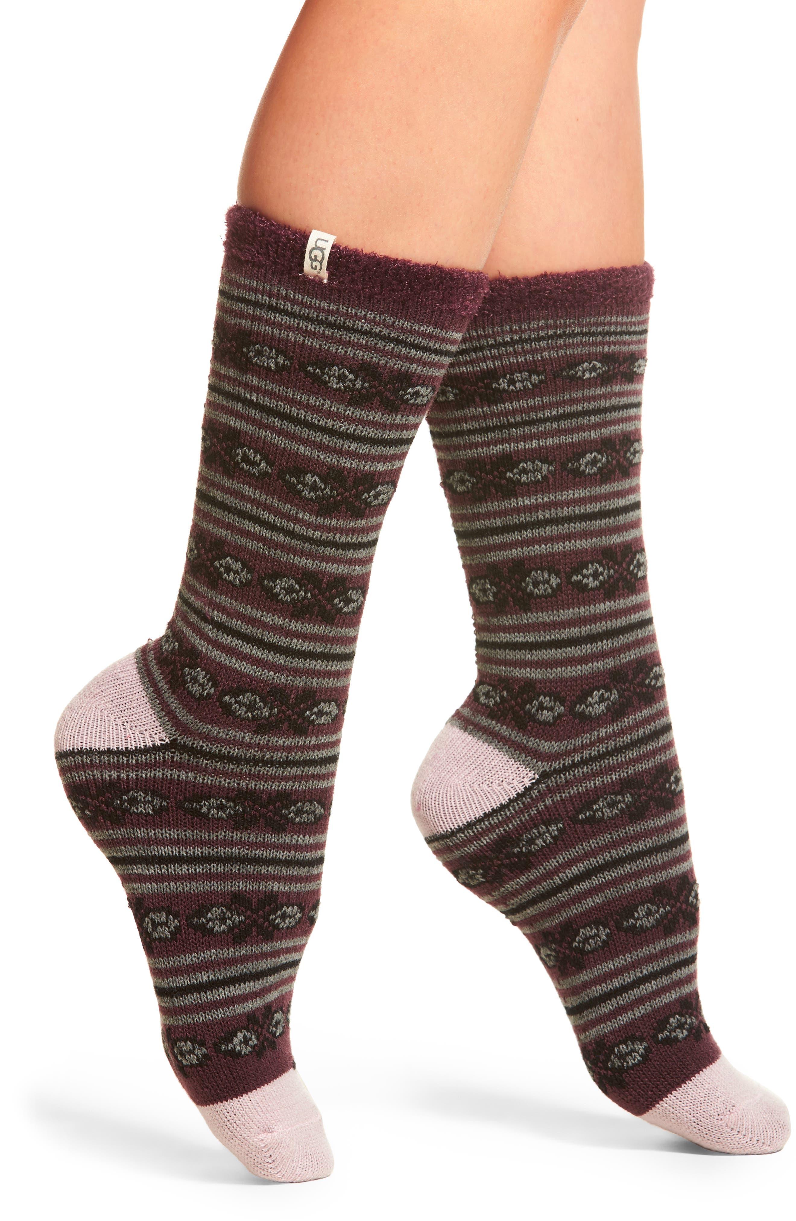 UGG® Fair Isle Fleece Lined Socks