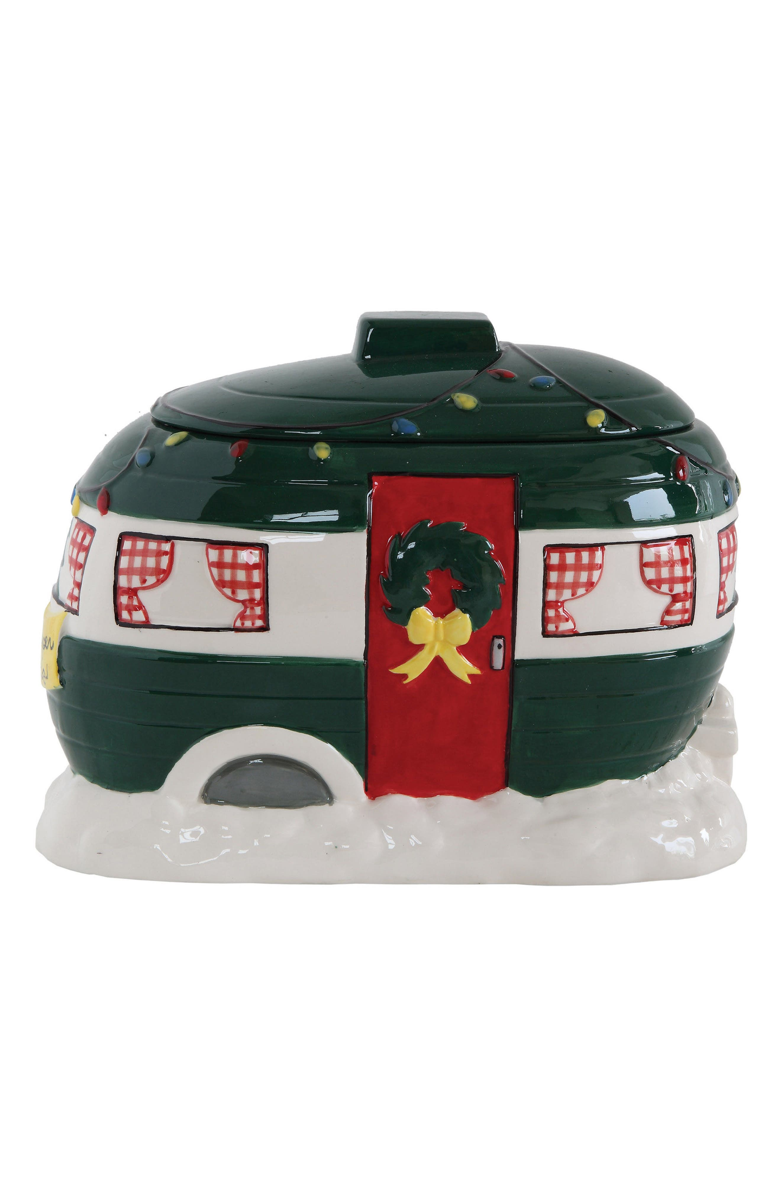 Creative Co-Op Happy Camper Cookie Jar