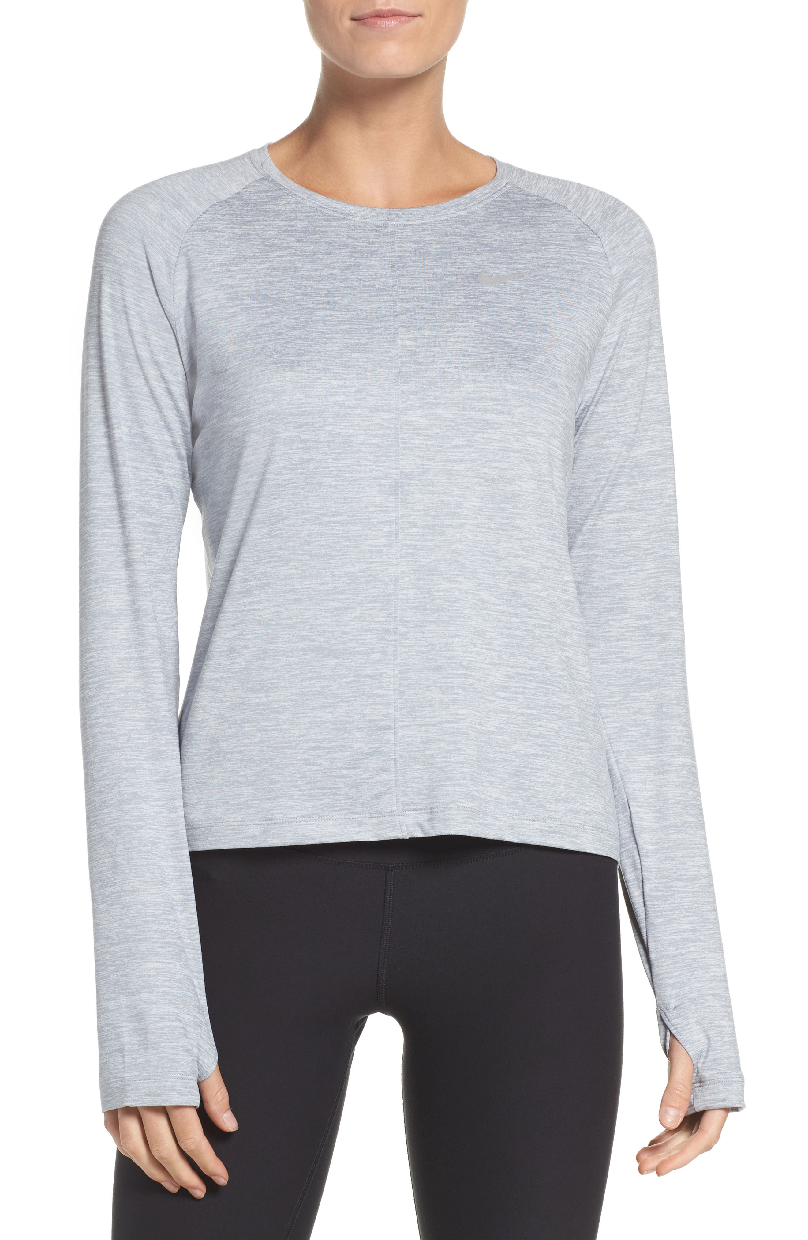 Dry Element Crop Top,                         Main,                         color, Wolf Grey/ Heather