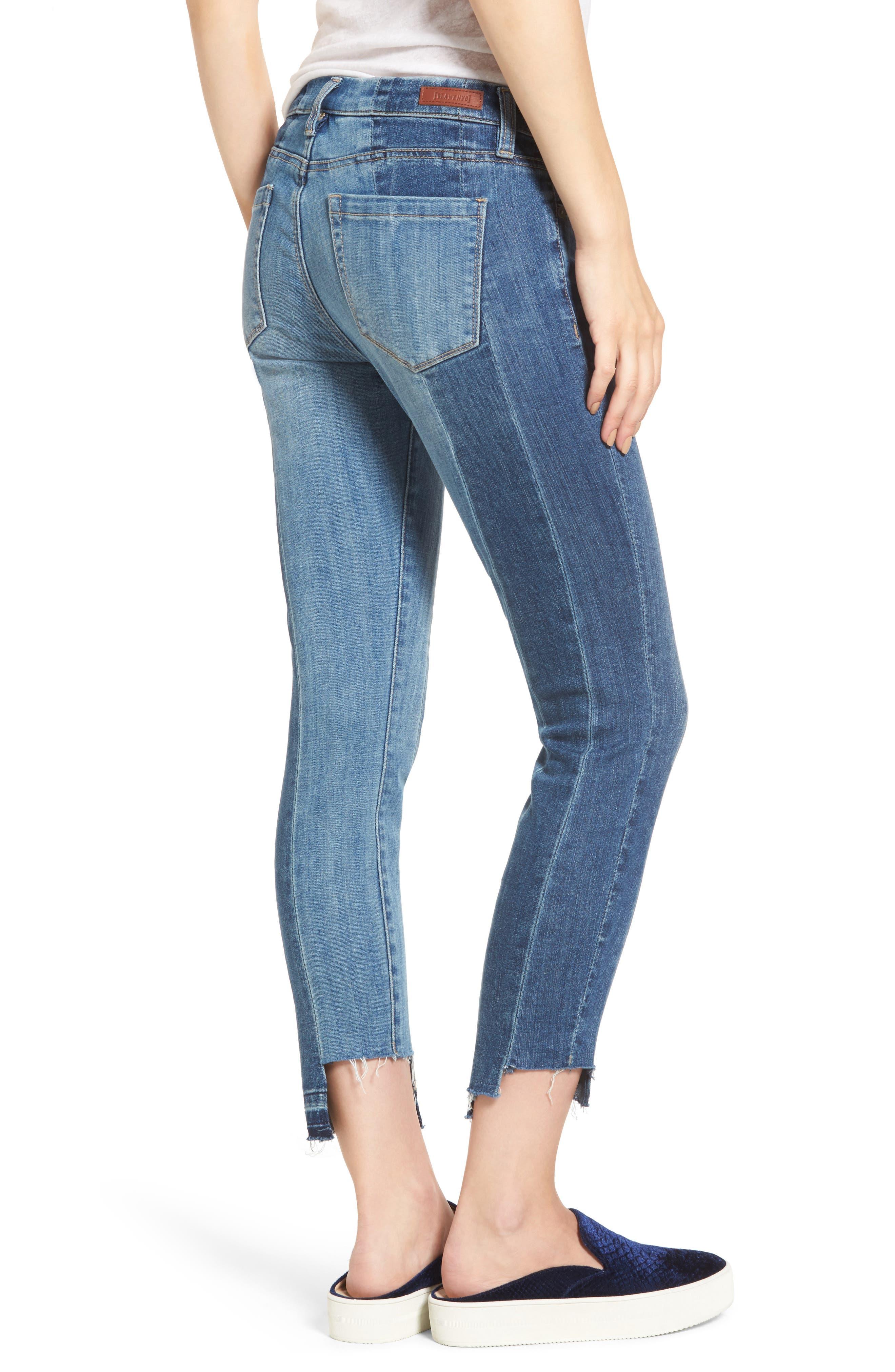 Alternate Image 2  - BLANKNYC Step Hem Skinny Jeans