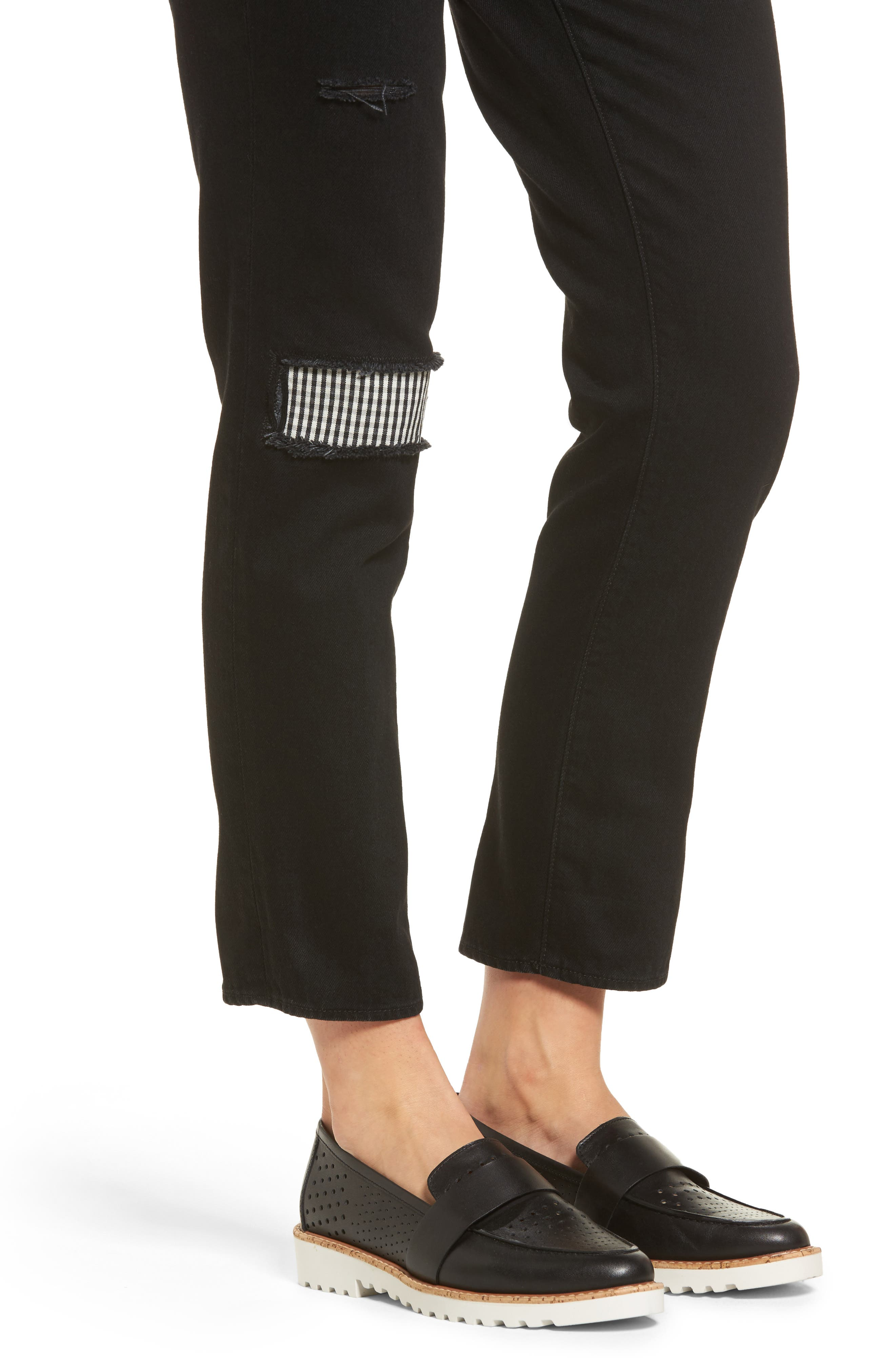 Alternate Image 4  - PARKER SMITH Anti-Fit Ankle Straight Jeans (Black Magic)