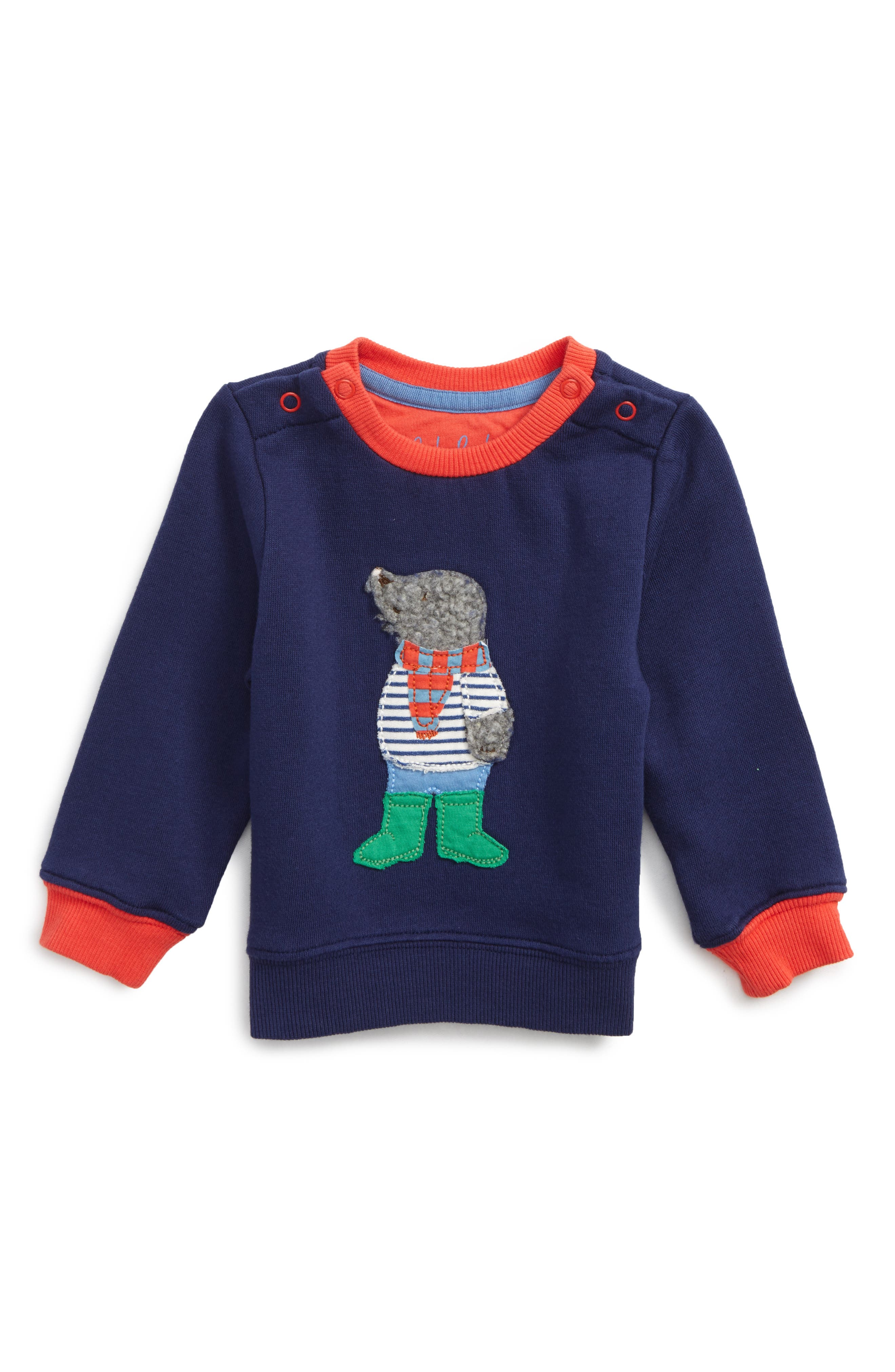 Mini Boden Appliqué Cozy Sweatshirt (Baby Boys & Toddler Boys)