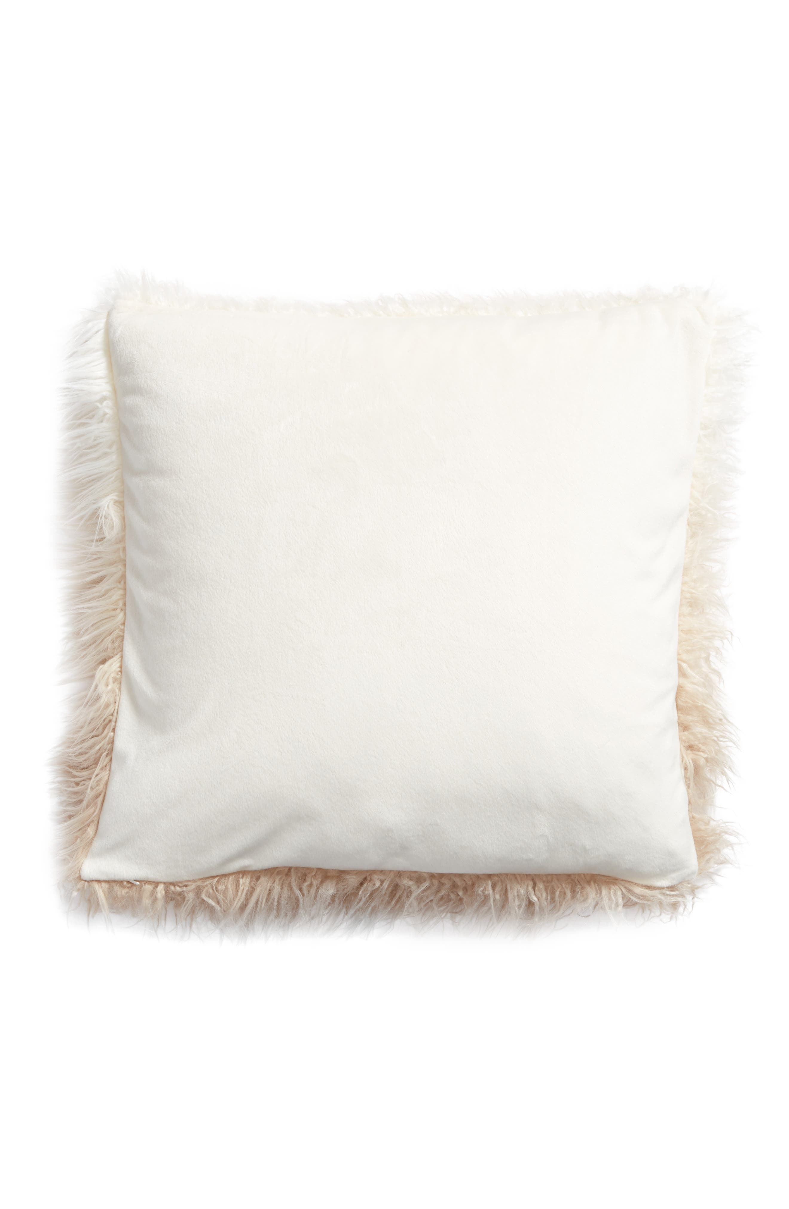 Alternate Image 2  - Nordstrom at Home Ombré Faux Fur Flokati Accent Pillow