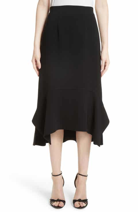 Altuzarra Drape Hem Midi Skirt