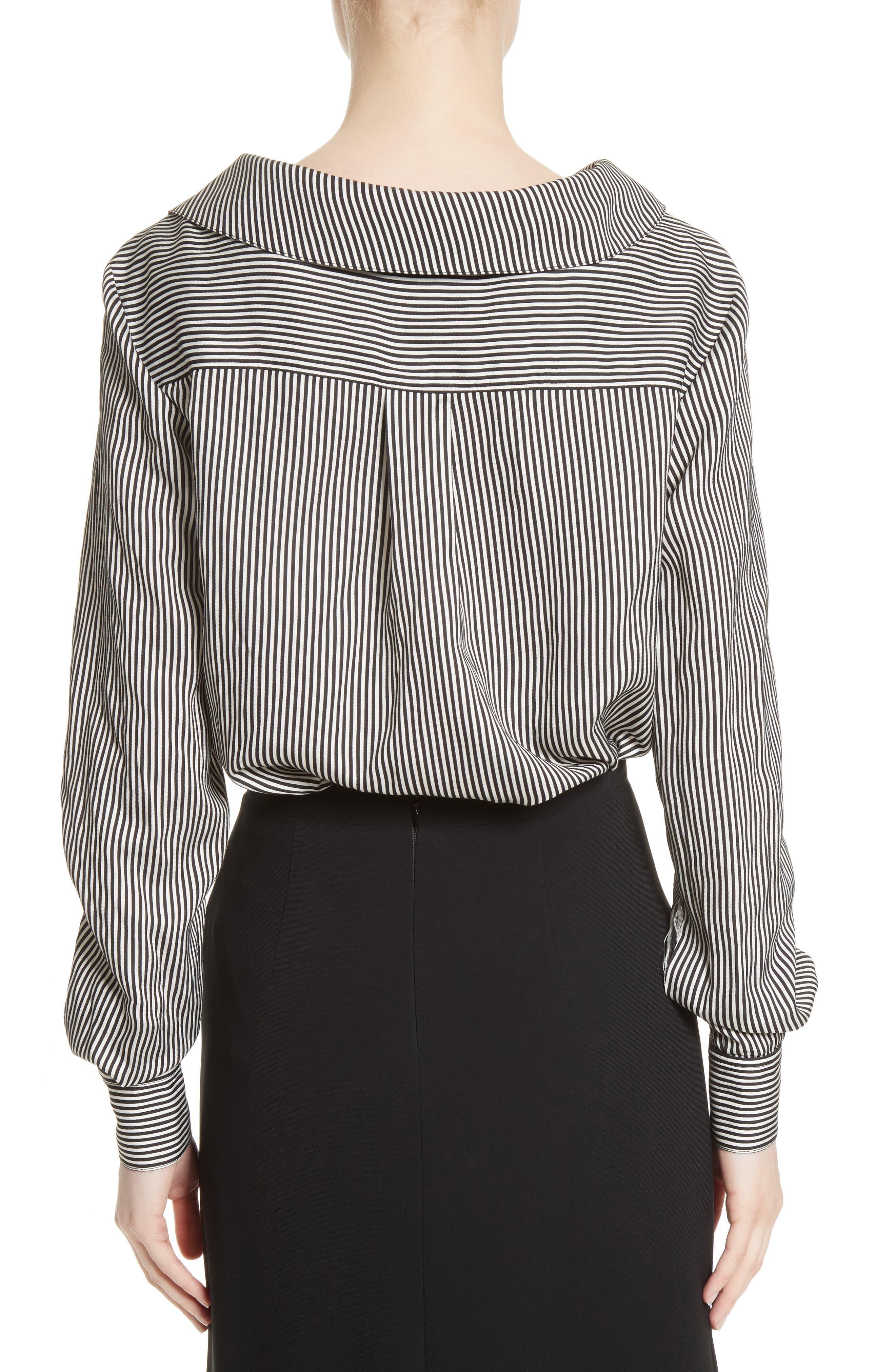 Alternate Image 2  - Altuzarra Asymmetrical Pinstripe Shirt