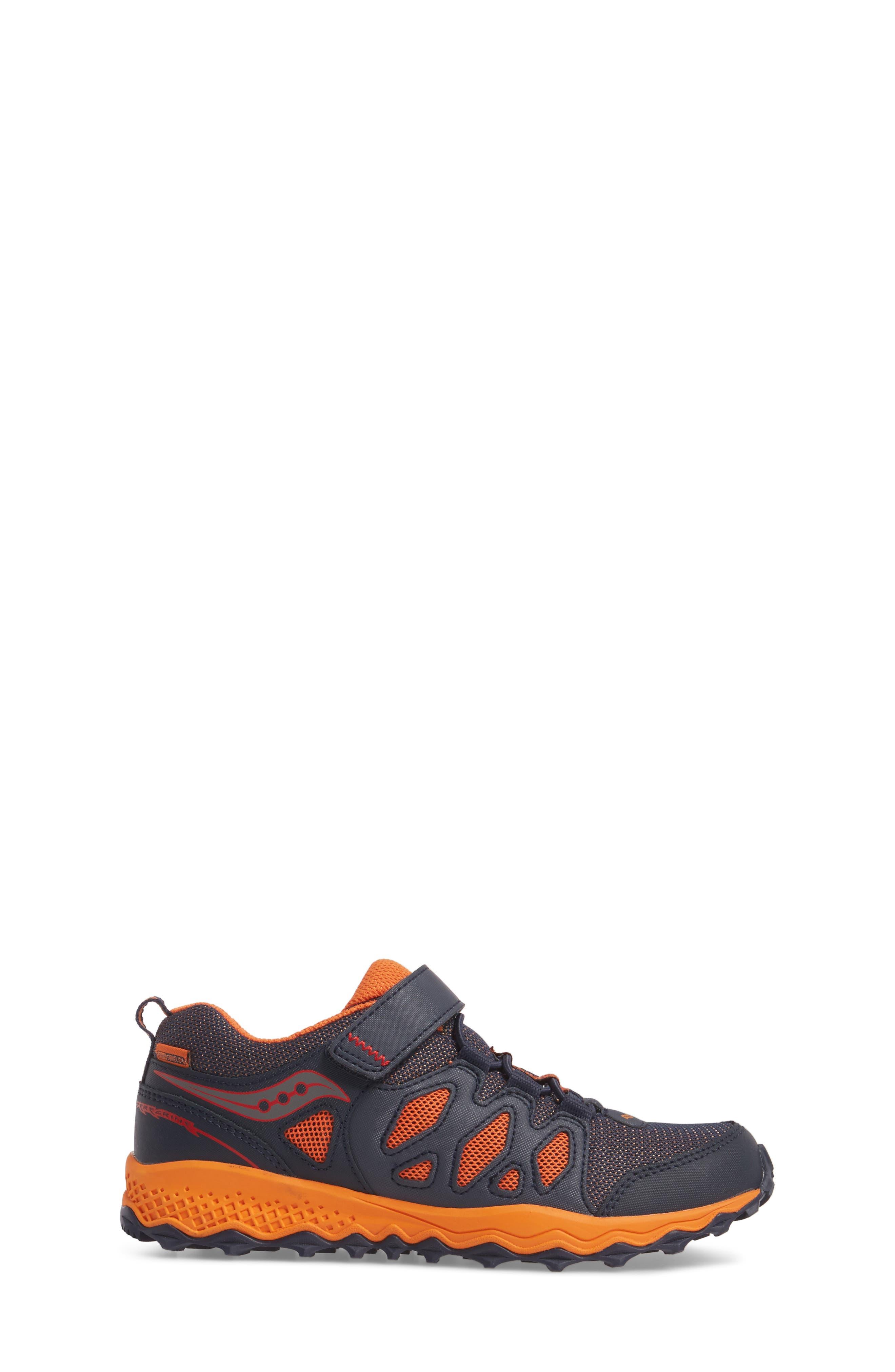 Peregrine Shield Water-Resistant Sneaker,                             Alternate thumbnail 3, color,                             Navy/ Orange