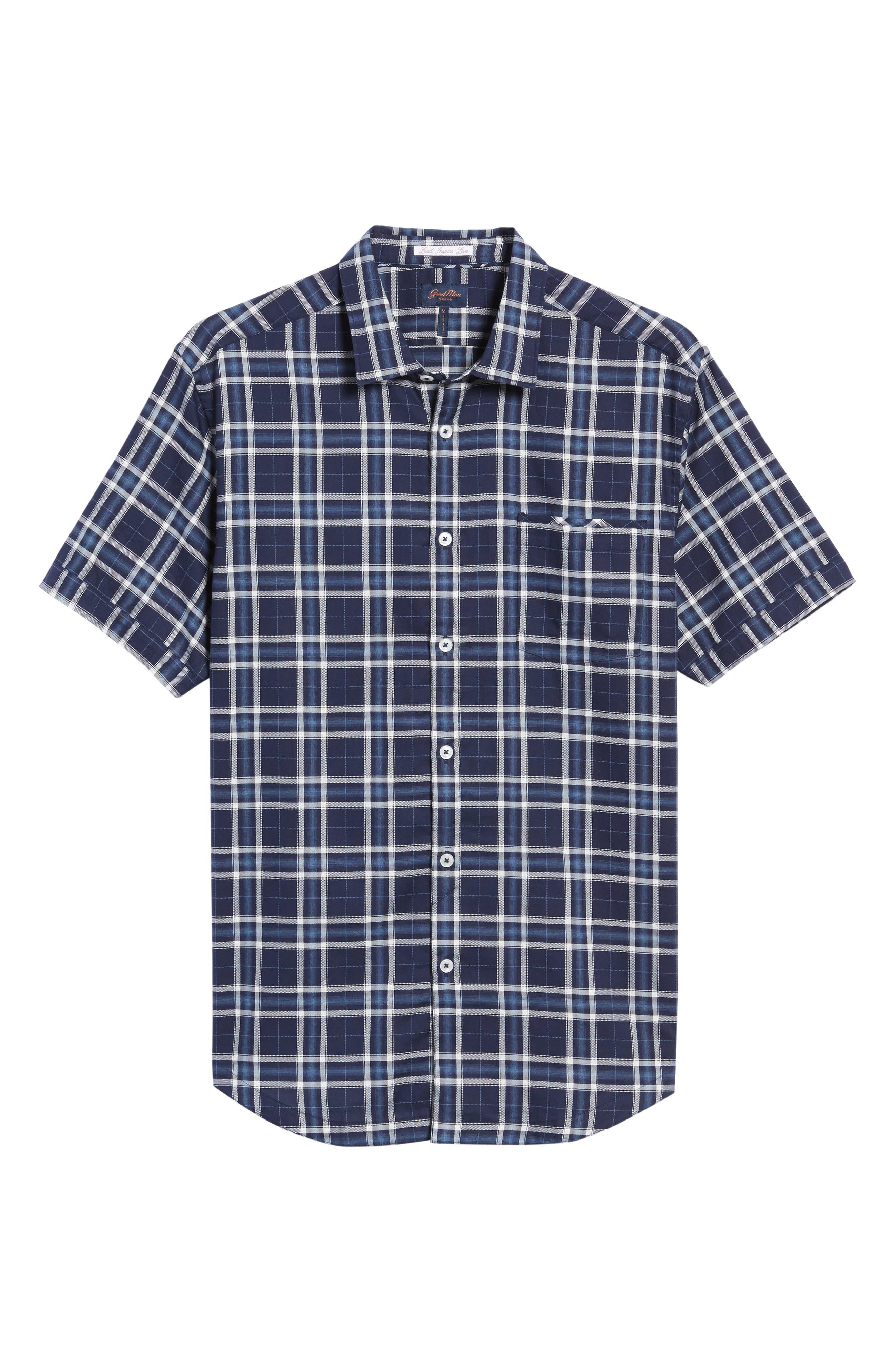 Alternate Image 5  - Good Man Brand Slim Fit Plaid Sport Shirt