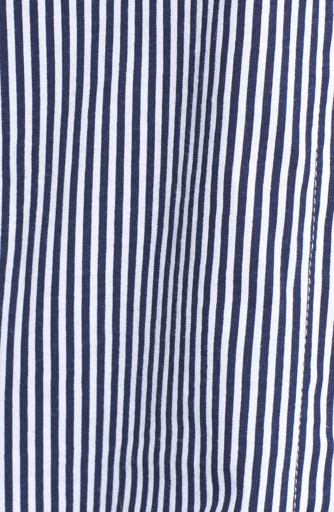 Alternate Image 5  - Lauren Ralph Lauren Knit Crop Pajamas (Online Only)