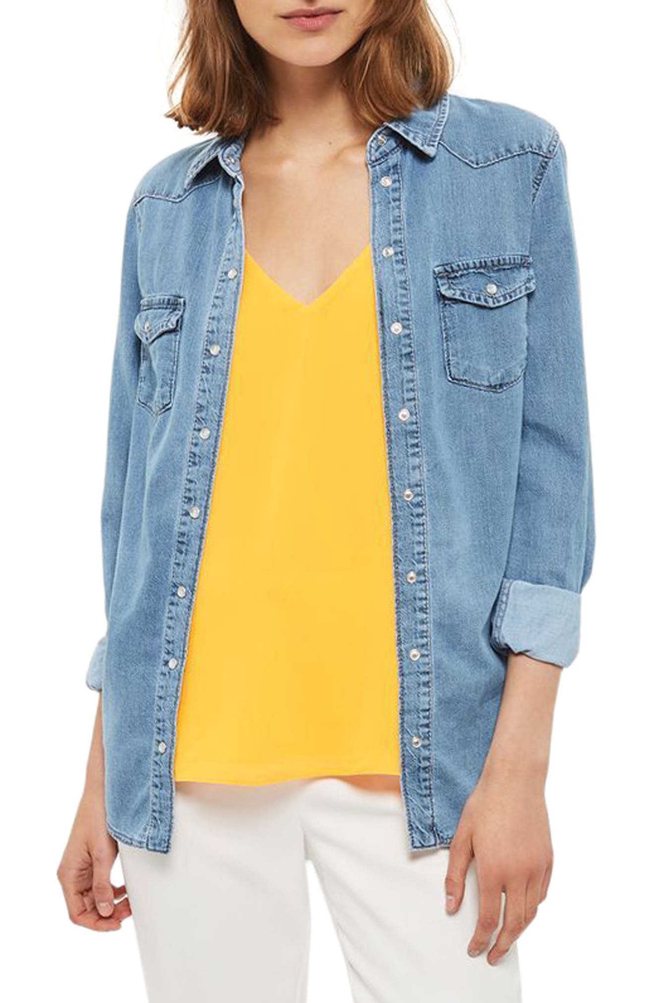 Topshop Fitted Western Shirt