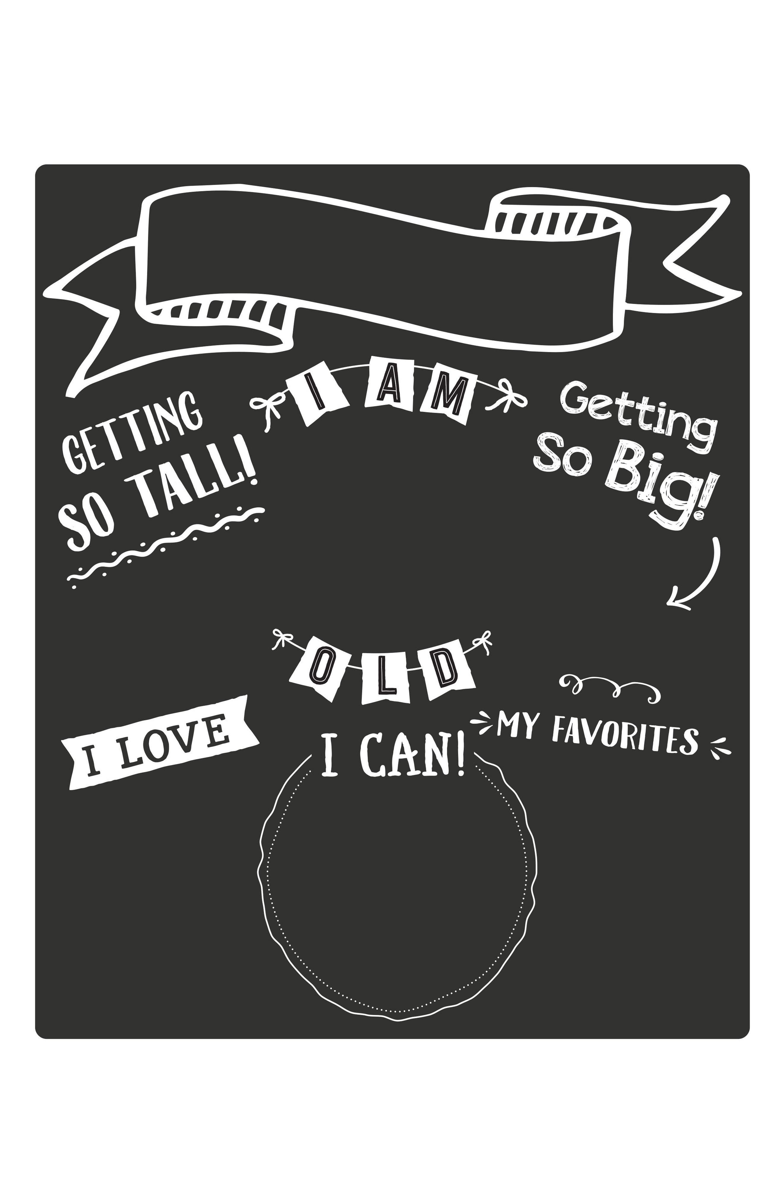 All About Baby Chalkboard,                             Main thumbnail 1, color,                             Black