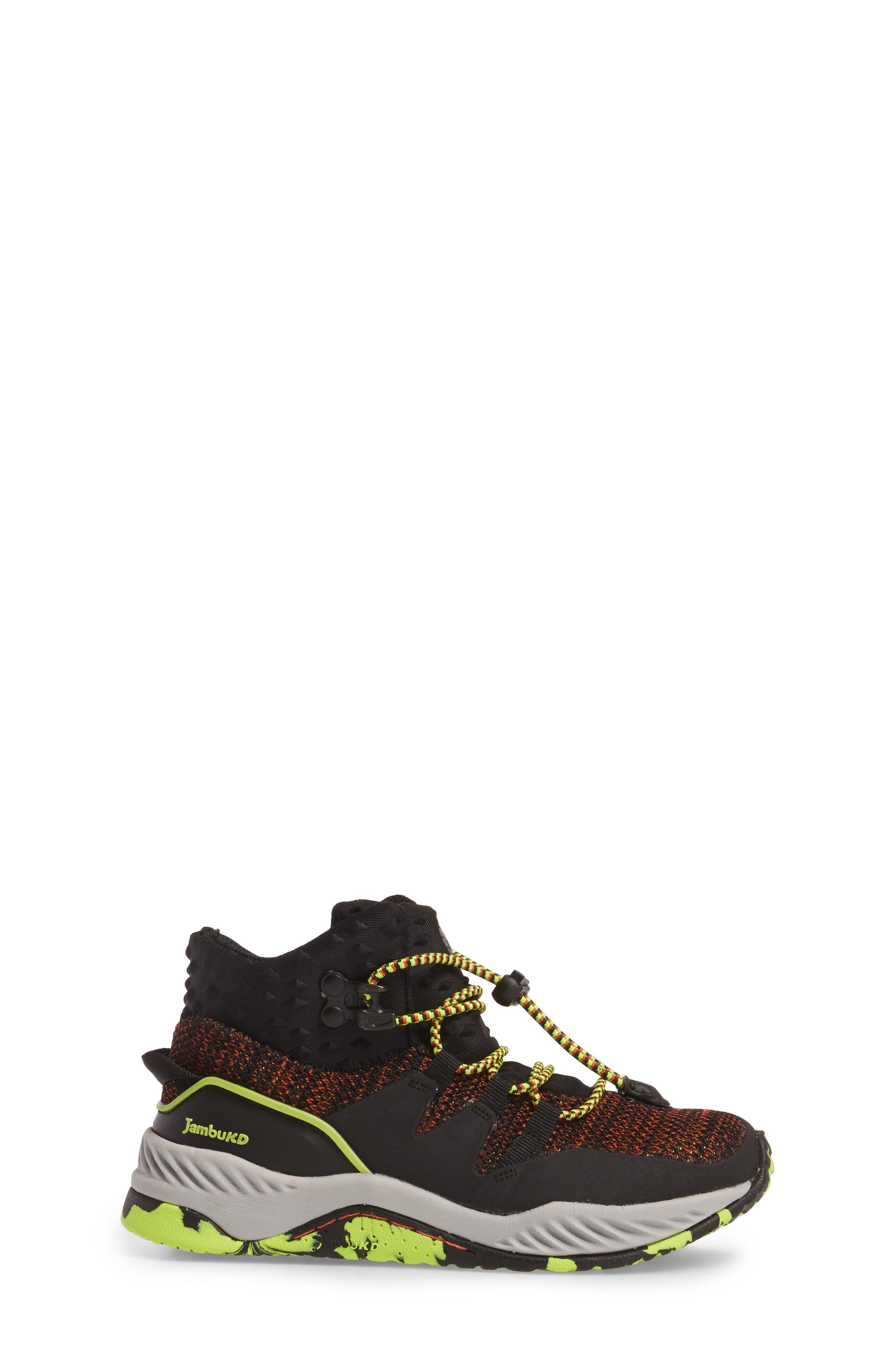 Armadillo Sneaker Boot,                             Alternate thumbnail 3, color,                             Black